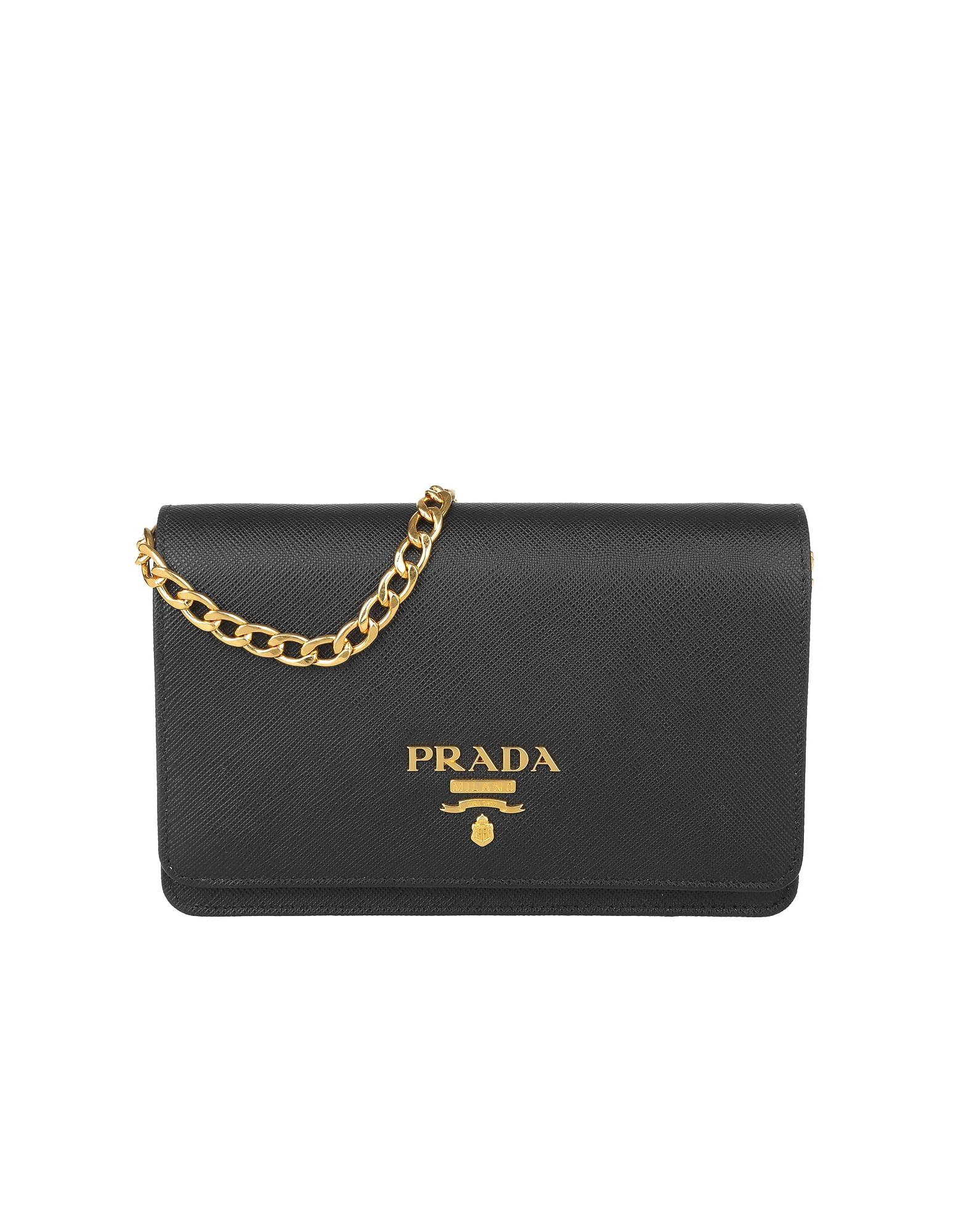 8204ab81fb5d Prada - Black Shoulder Bag Saffiano Lux Nero - Lyst. View fullscreen