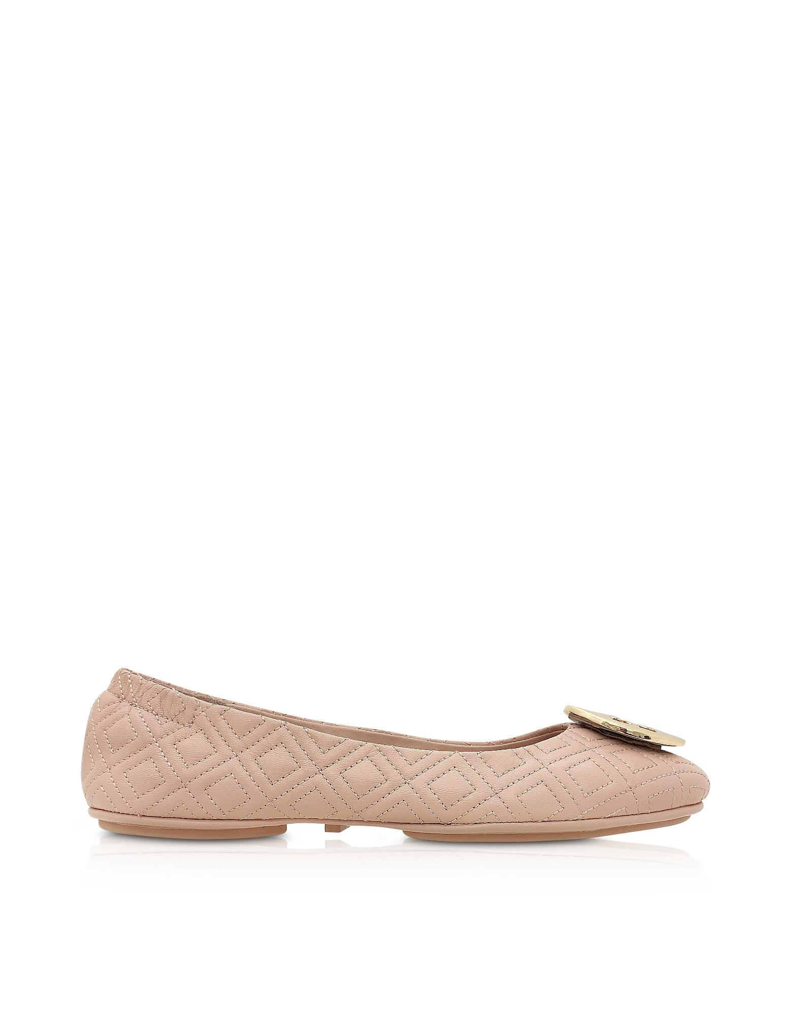 a1b9defc5 Lyst - Tory Burch Goan Sand Quilted Nappa Leather Minnie Ballerinas ...