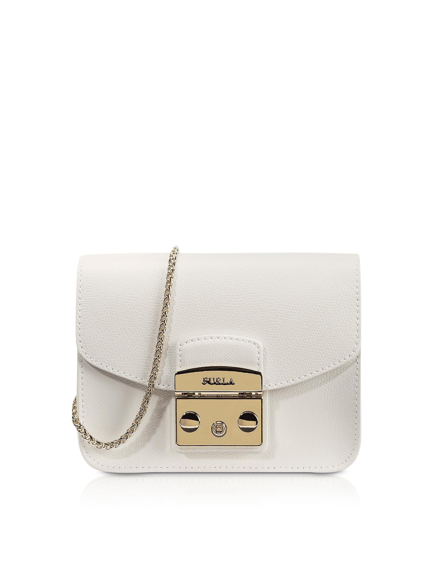 24ef0986e7 Furla Metropolis Petalo Leather Mini Crossbody Bag in White - Save ...
