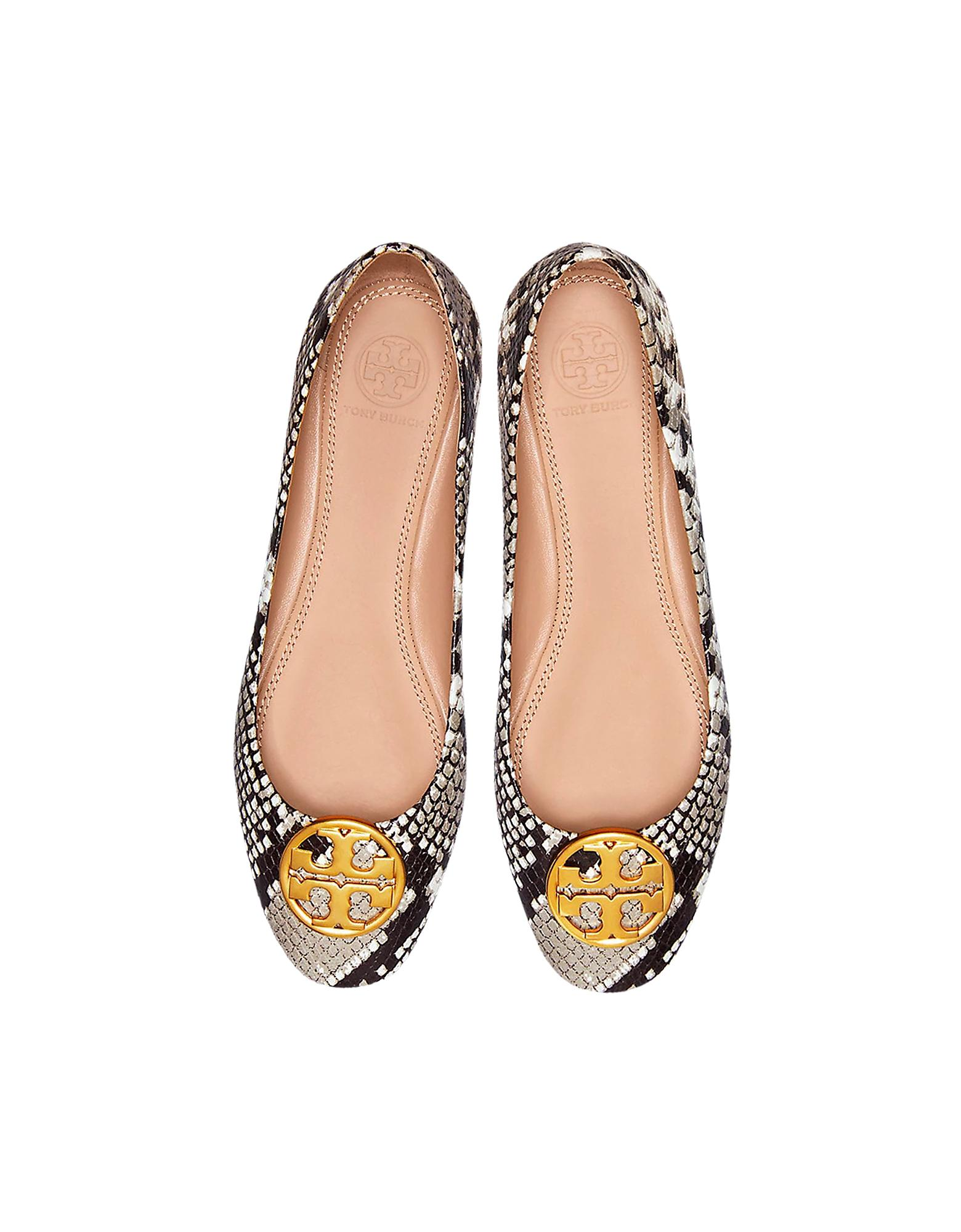d3dd78f9b8c2 Lyst - Tory Burch Warm Roccia Snake Printed Leather Chelsea Ballet ...