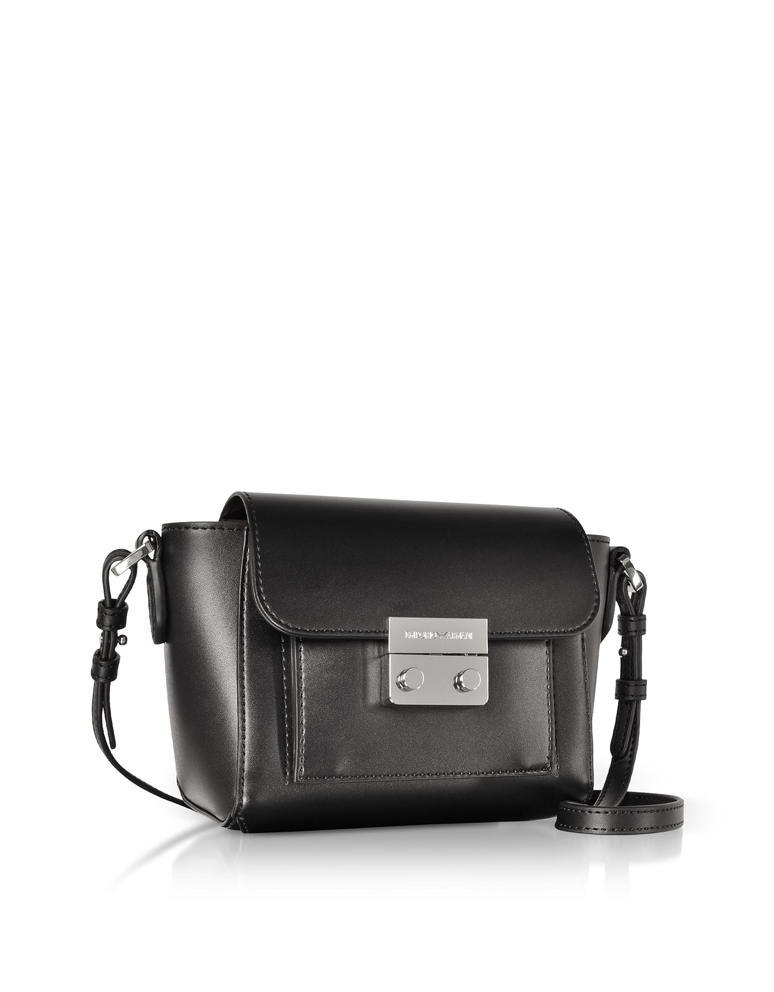 c8540ce4f0e Lyst - Emporio Armani Small Smooth Eco Leather Shoulder Bag in Black