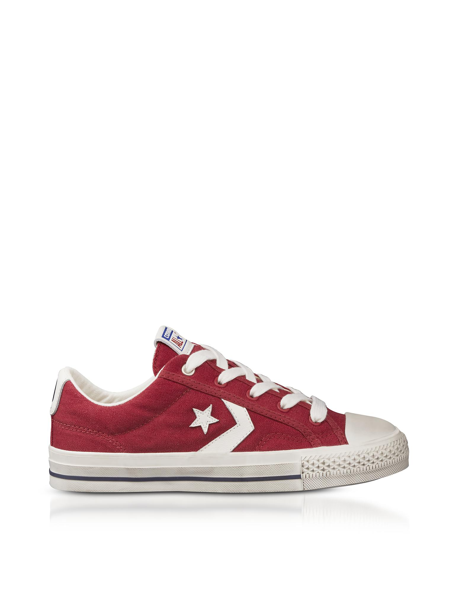 9e1126086c22 Converse Red Star Player Distressed Ox Canvas Men s Sneakers in Red ...