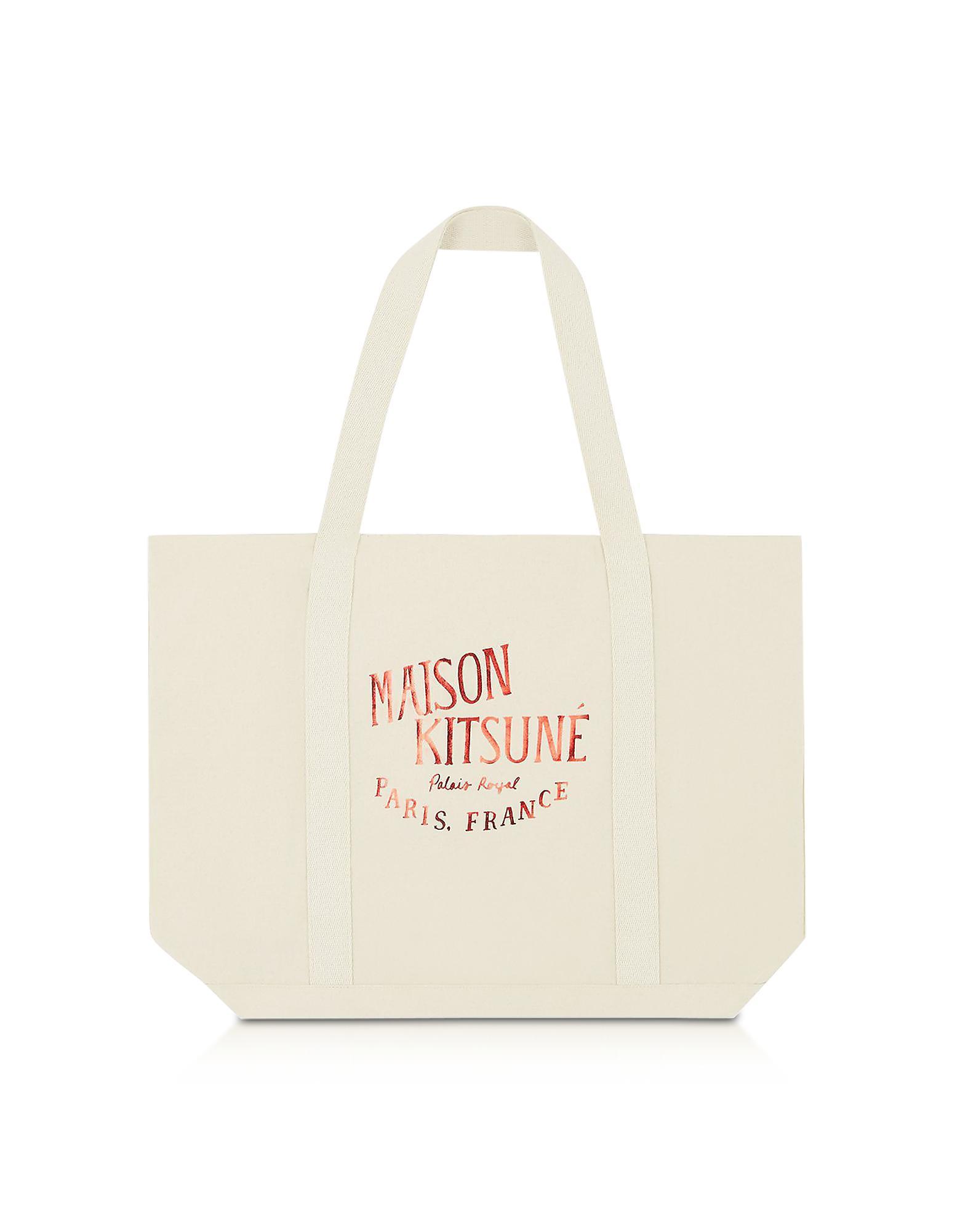 logo print tote - White Maison Kitsun XpFOUdn