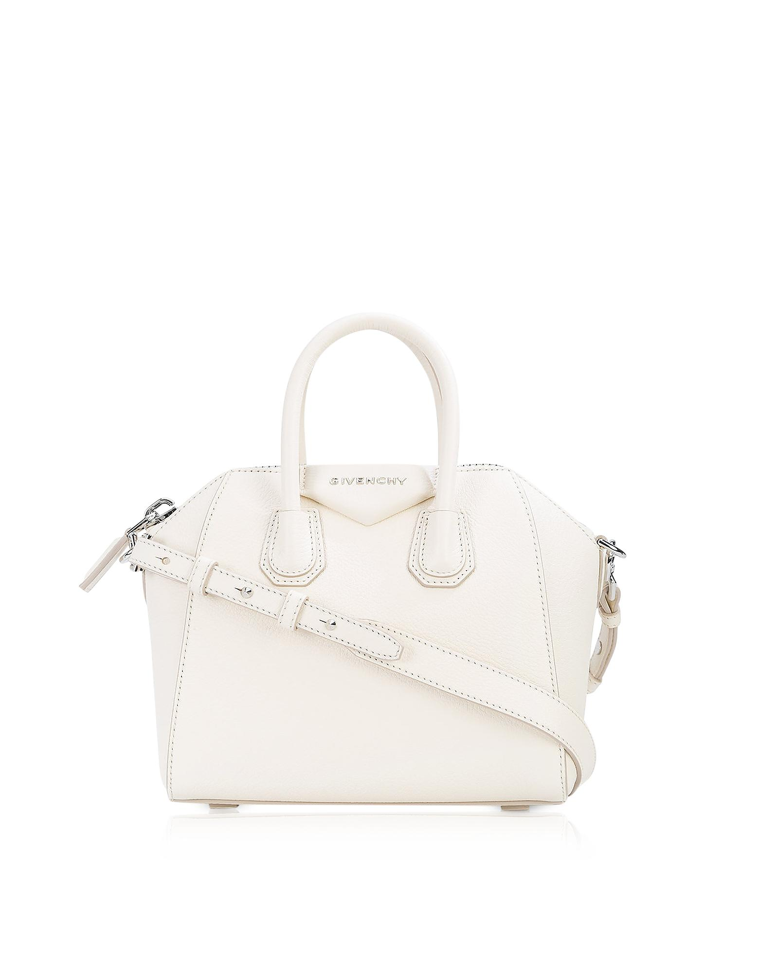 Givenchy Antigona Mini Off White Leather Satchel Bag in White - Lyst 65f9ce37ff123