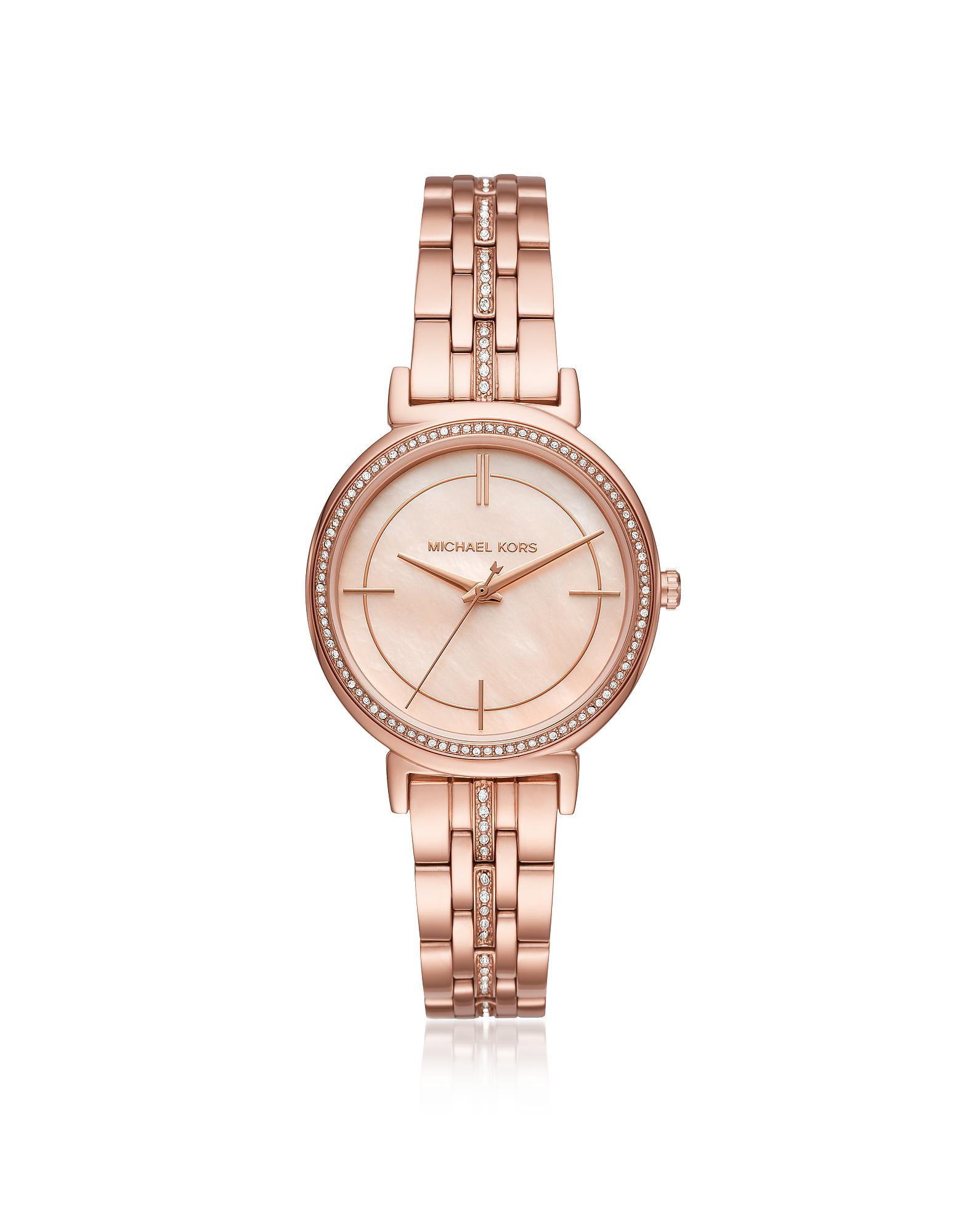 6e71d3010b2c Michael Kors - Pink Cinthia Rose Gold-tone Women s Watch - Lyst. View  fullscreen