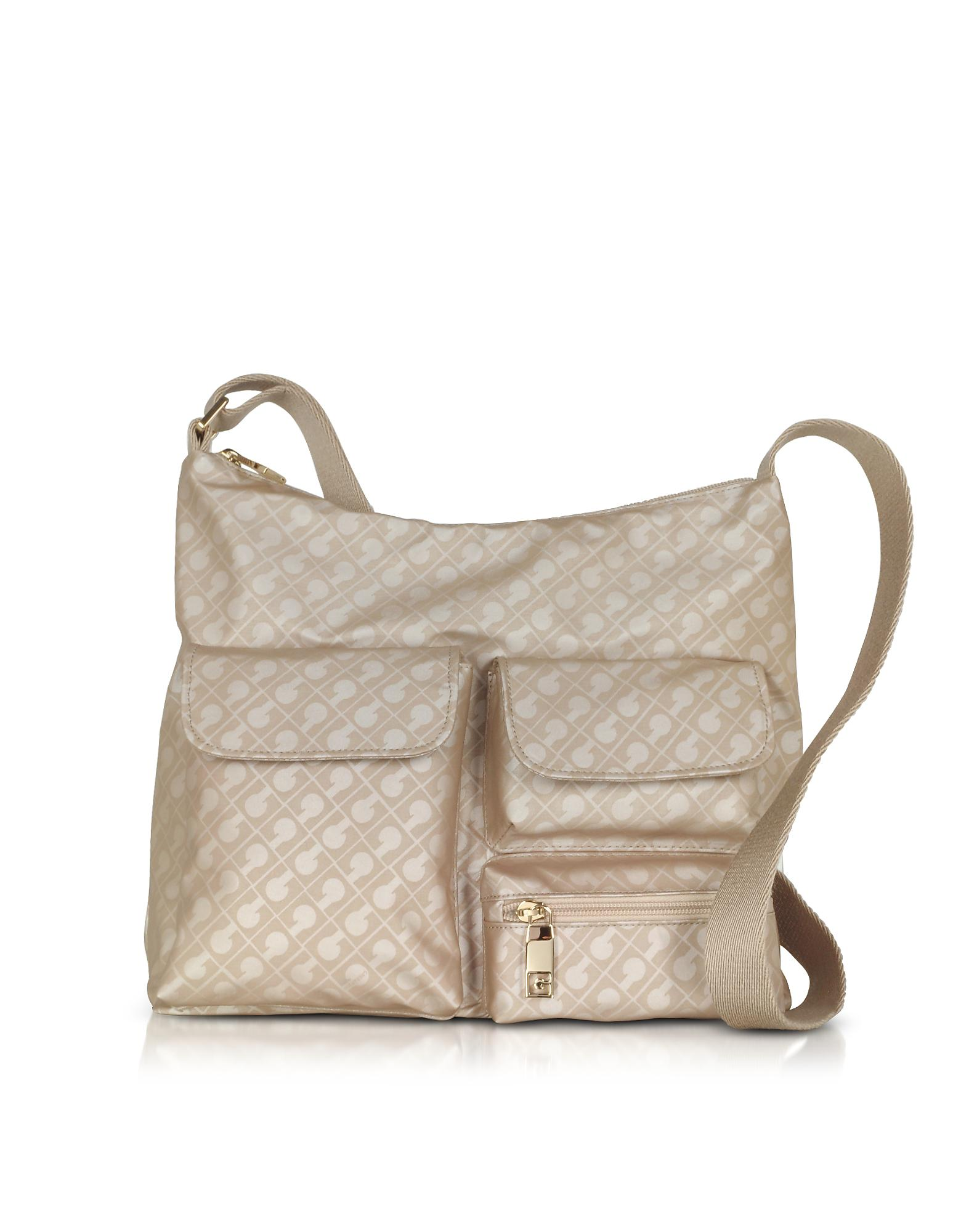 GHERARDINI Handbags, Clay Signature Fabric and Leather Softy Shoulder Bag