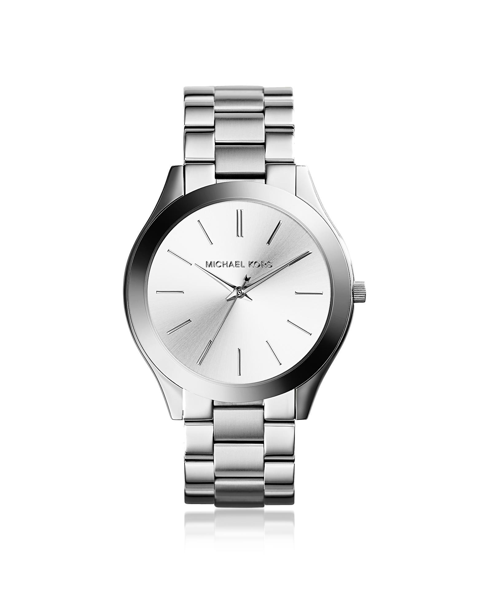 d8c7e042cd05 Lyst - Michael Kors Slim Runway Women s Watch in Metallic