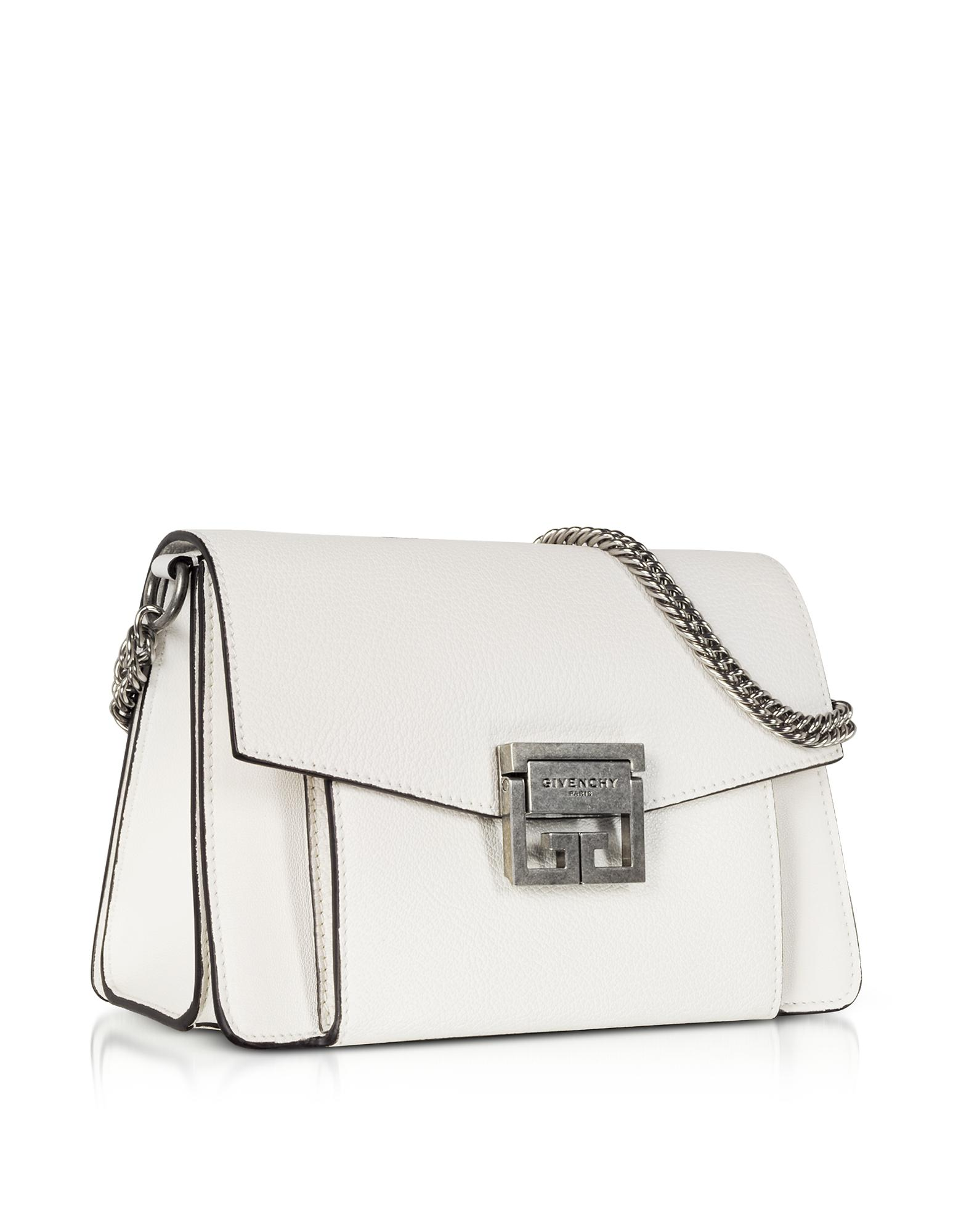 Givenchy Small Gv3 Leather Shoulder Bag in White - Lyst d1ce10abae083