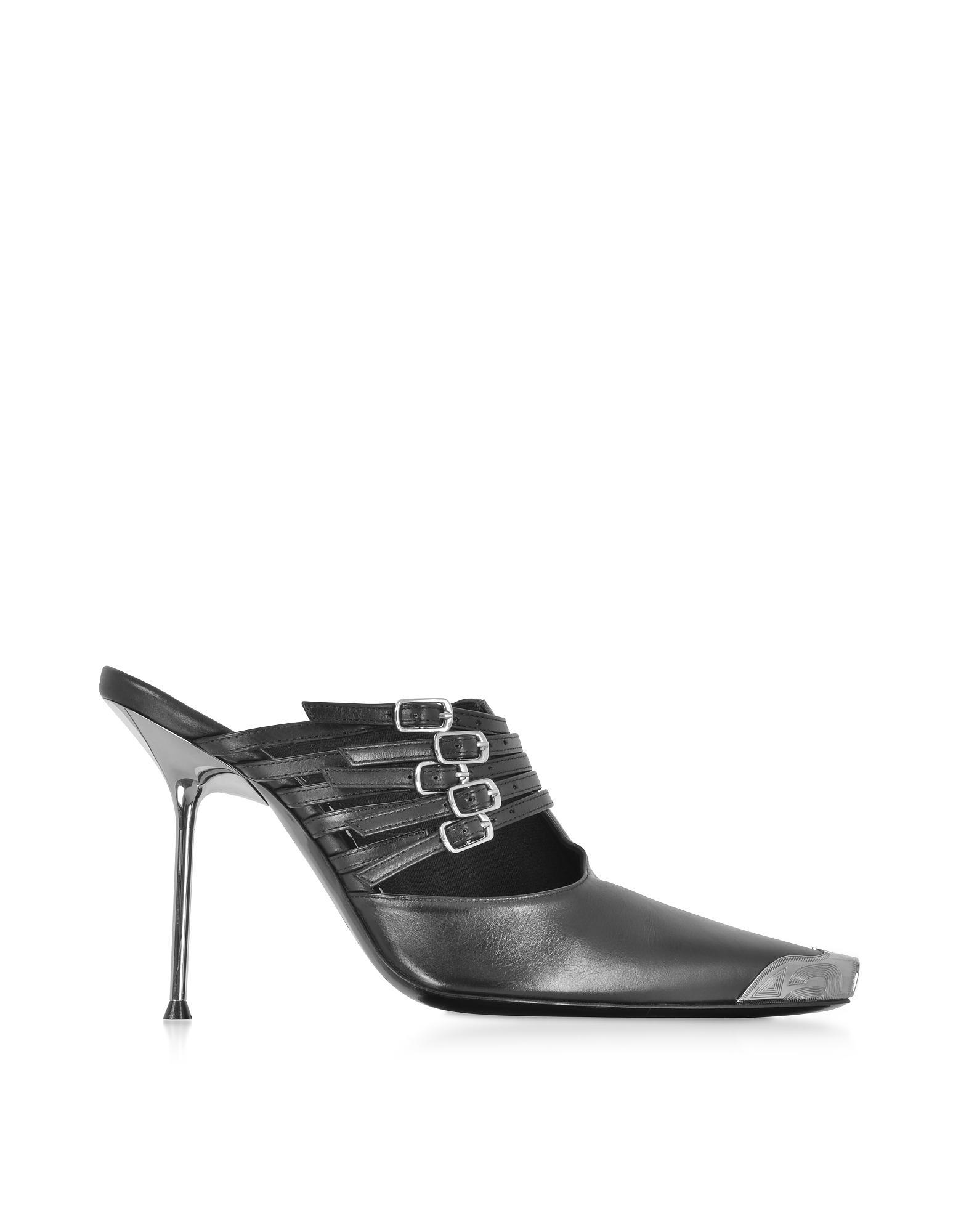 005e62df Minna Black Calf Leather High Heel Mules Alexander Wang de color ...