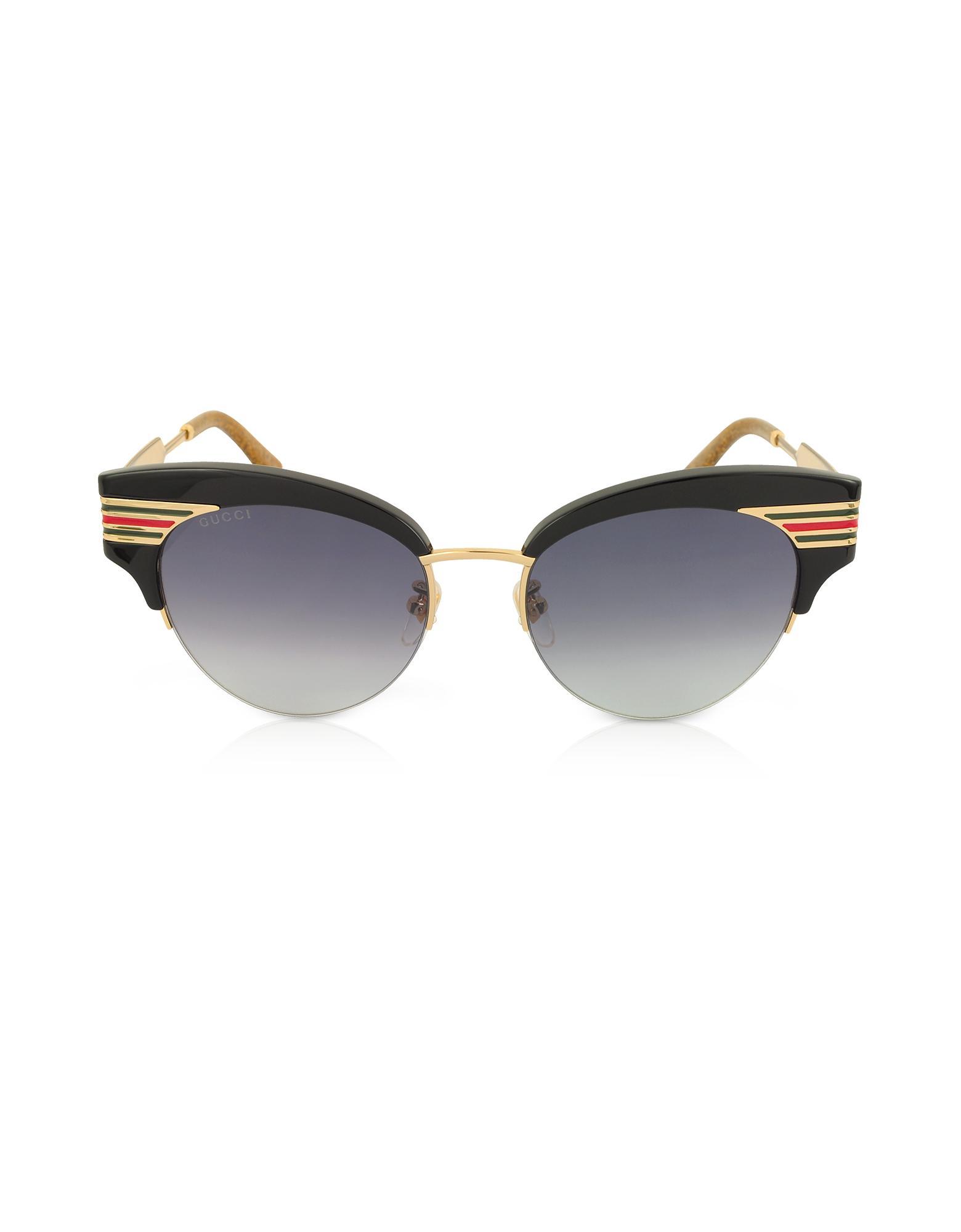 e373f98efbafa ... Cat Eye Black Acetate Sunglasses W sylvie Web Temples - Lyst. View  fullscreen