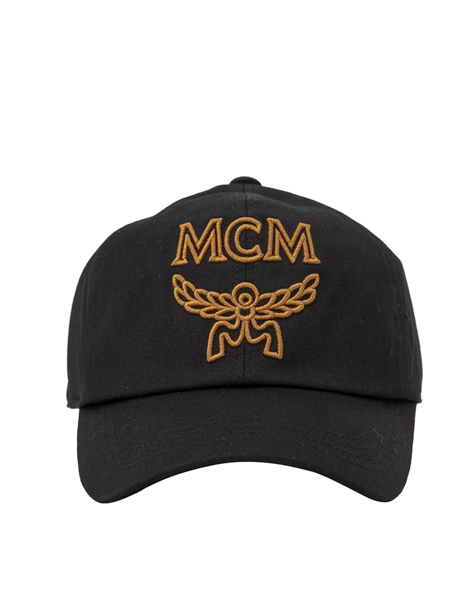 c4fc7cfafc1 MCM - Black Signature Cotton Baseball Cap for Men - Lyst. View fullscreen