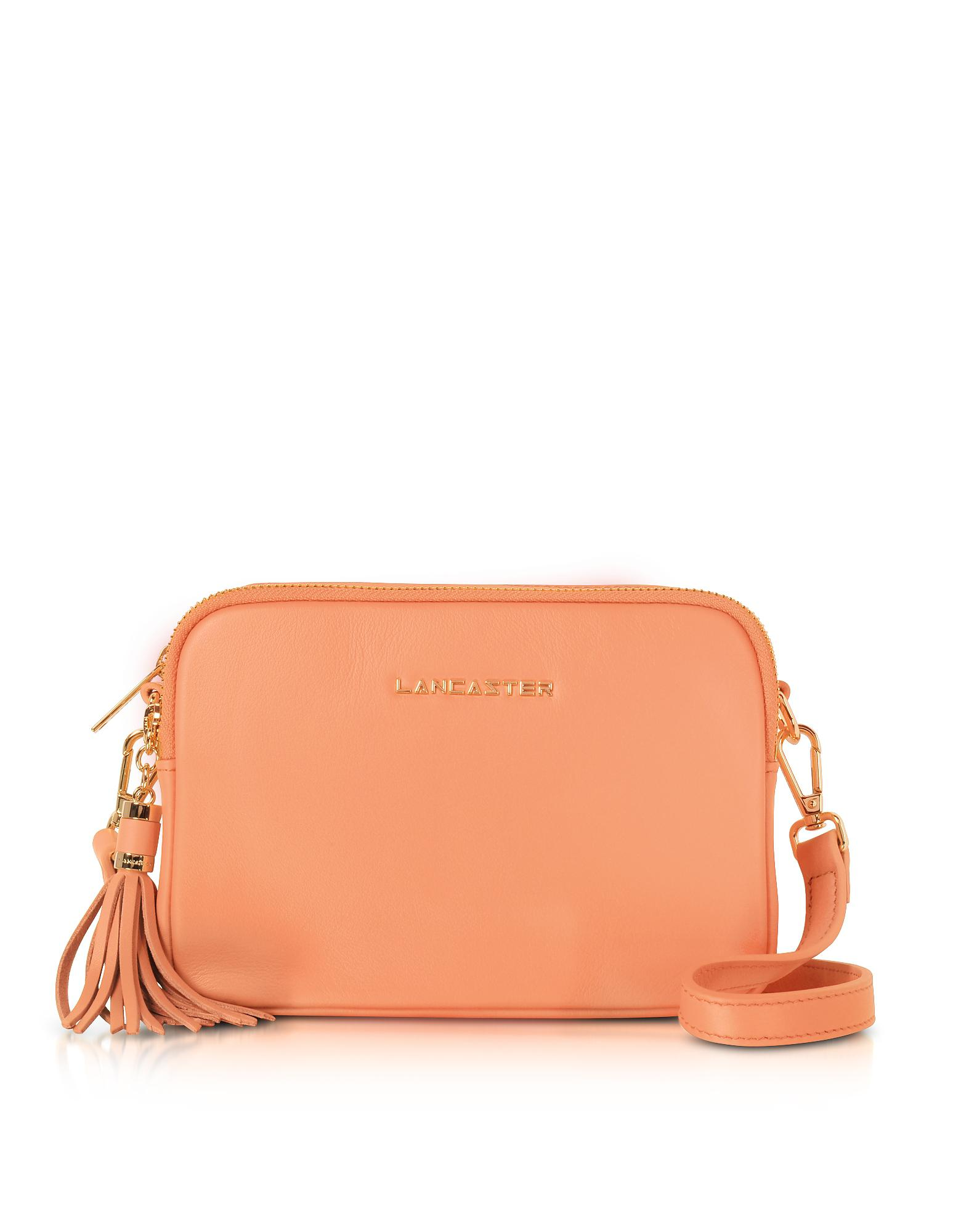 0fcc2f1b6929 Lancaster Paris Mademoiselle Ana Leather Crossbody Bag in Orange - Lyst