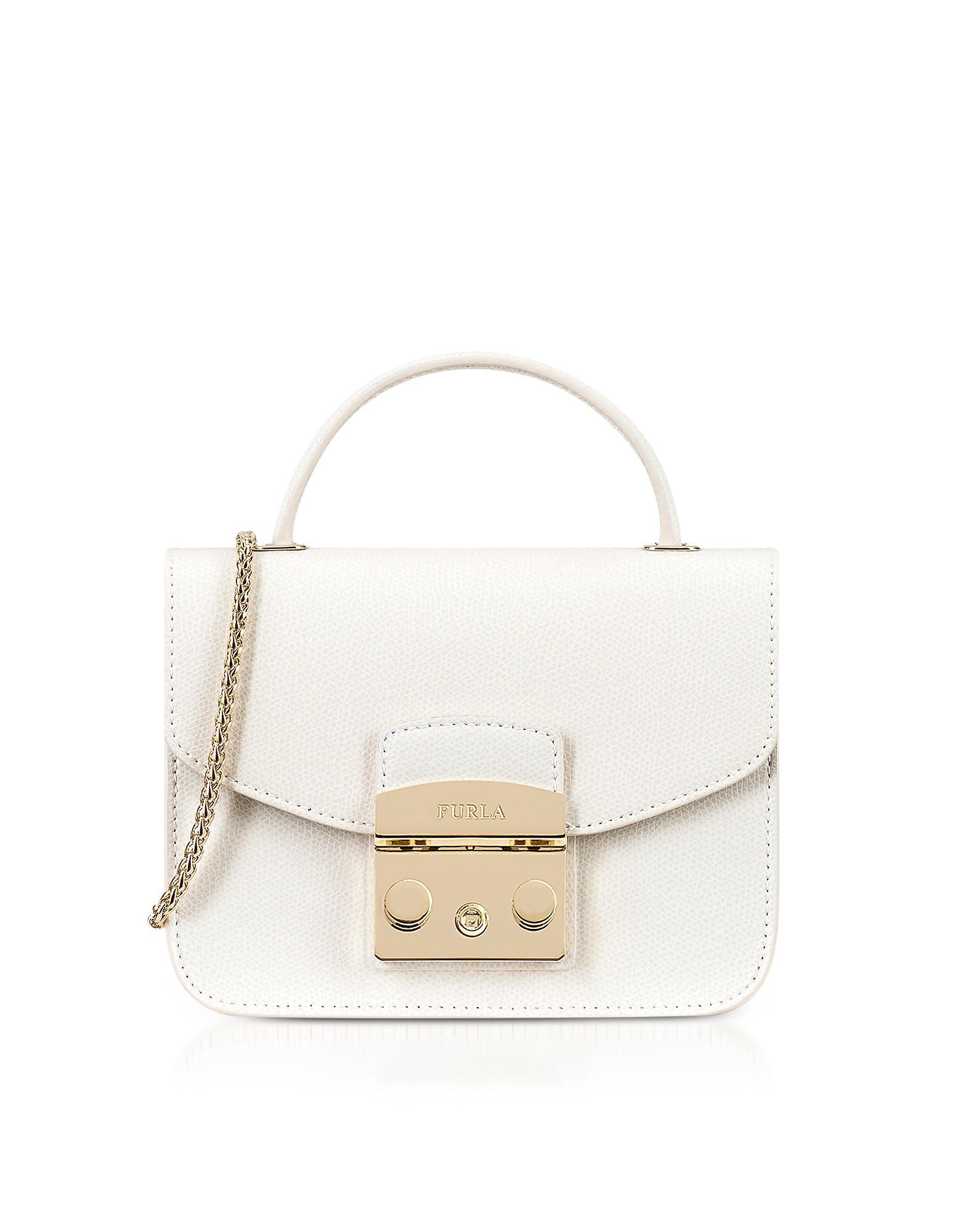 beb2a03b6 Furla Petalo Metropolis Mini Top Handle Crossbody Bag in White - Lyst