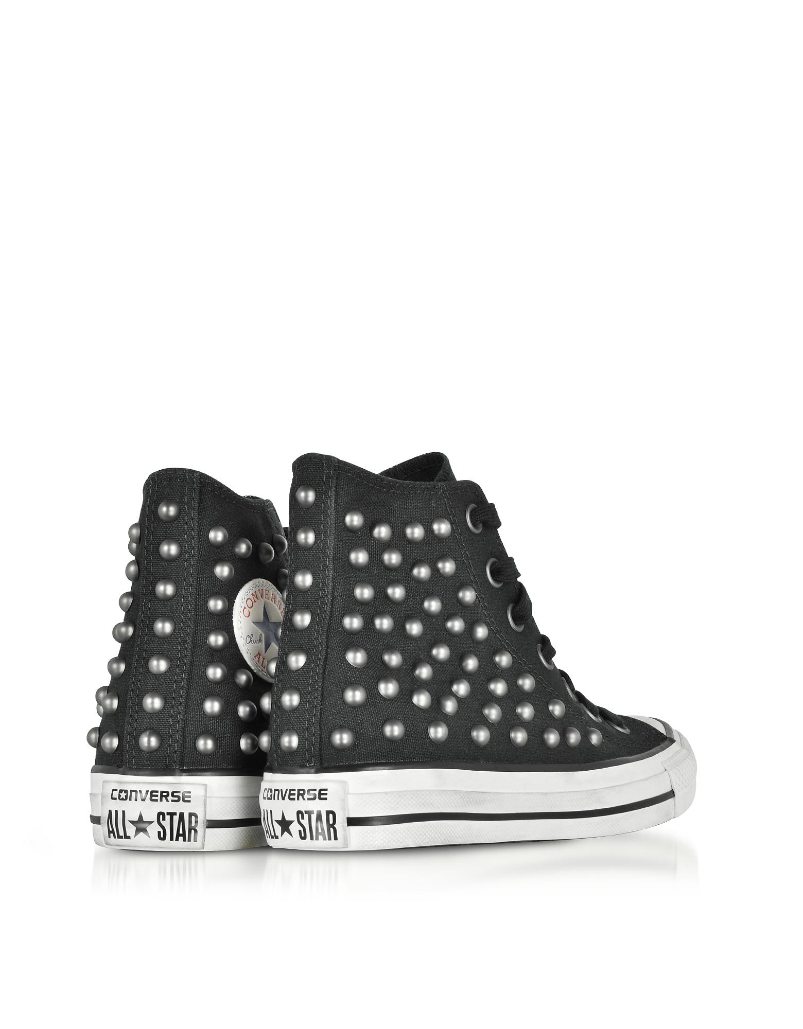 570389393bae Converse - Chuck Taylor All Star High Black Studded Canvas Snekakers - Lyst