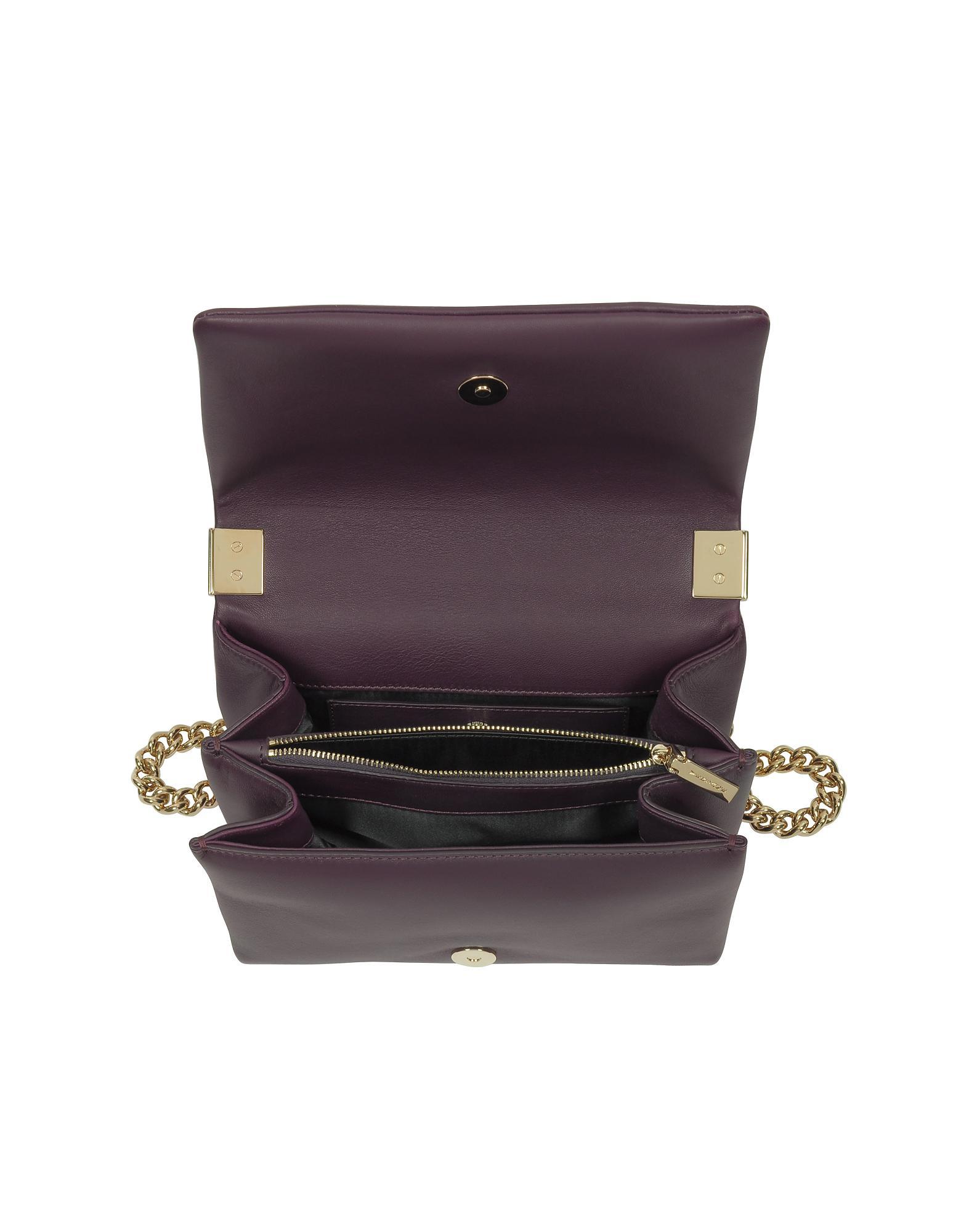 ffffde47cc Lyst - Versace Palazzo Nappa Leather Shoulder Bag W medusa in Purple