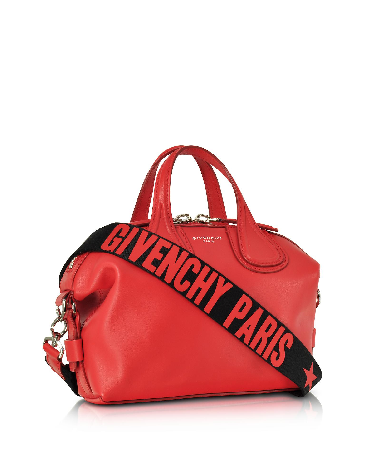 07822b53cb2f8 Lyst - Givenchy Red Leather Small Nightingale Satchel Bag .
