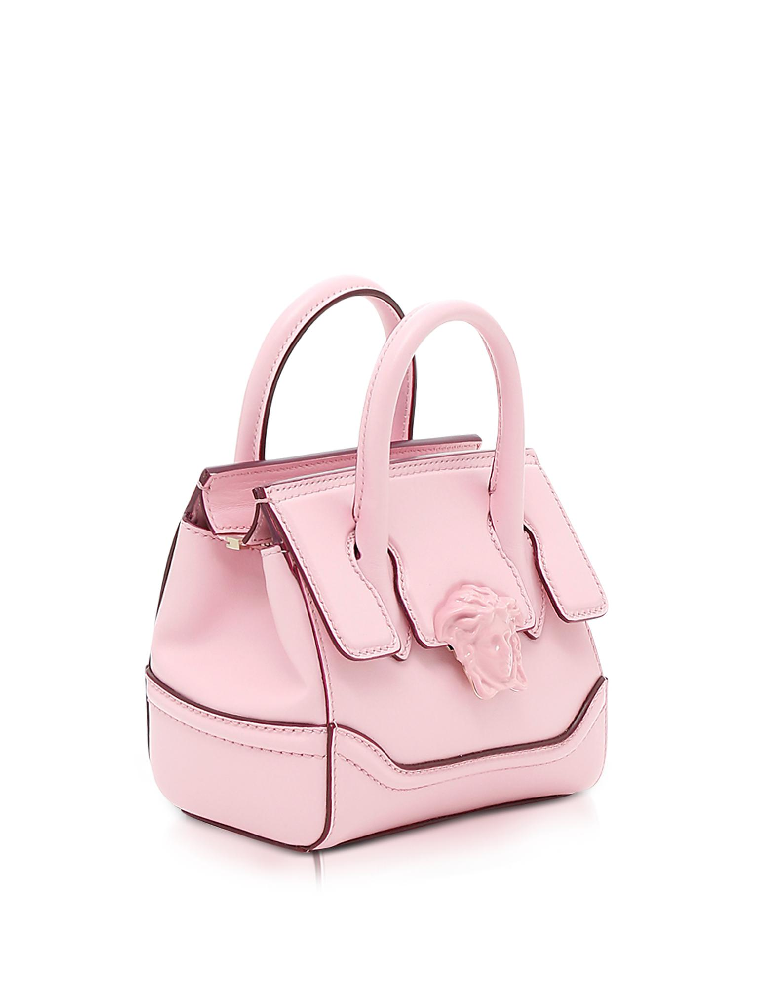 74342ae0eb76 Lyst - Versace Palazzo Empire Pink Leather Mini Handbag in Pink