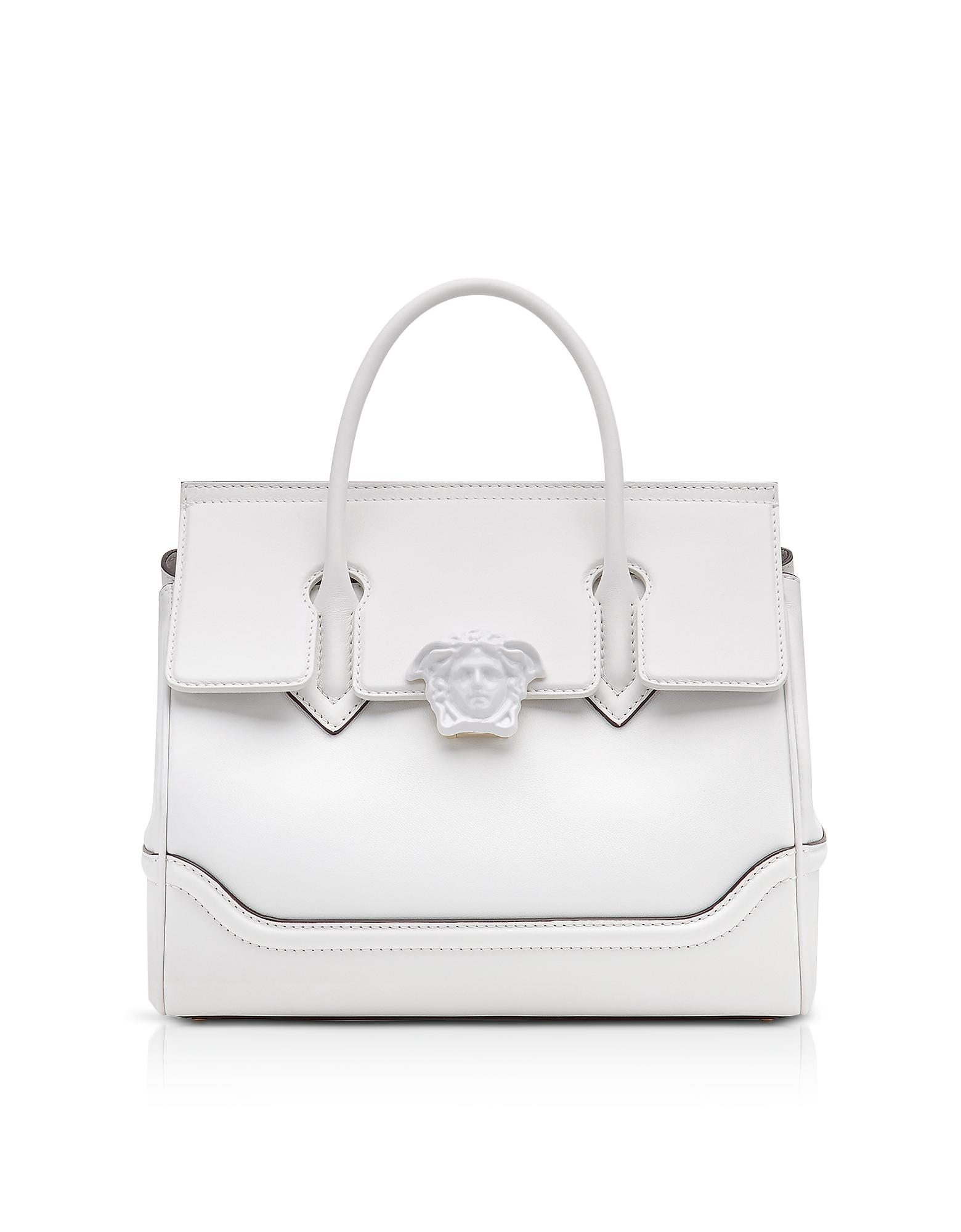 19ee33cd477 Versace Palazzo Empire Large Top Handle Bag in White - Lyst