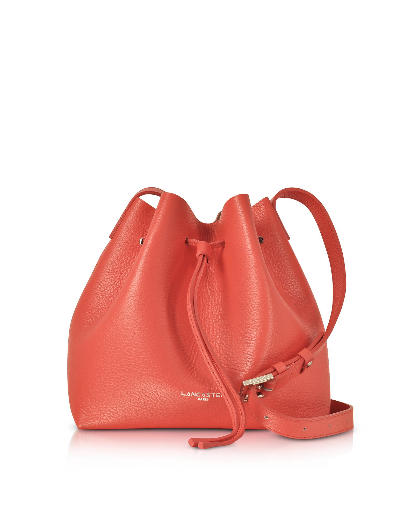 204301ee4237 Lyst - Lancaster Paris Pur   Element Foulonné Leather Bucket Bag in Red