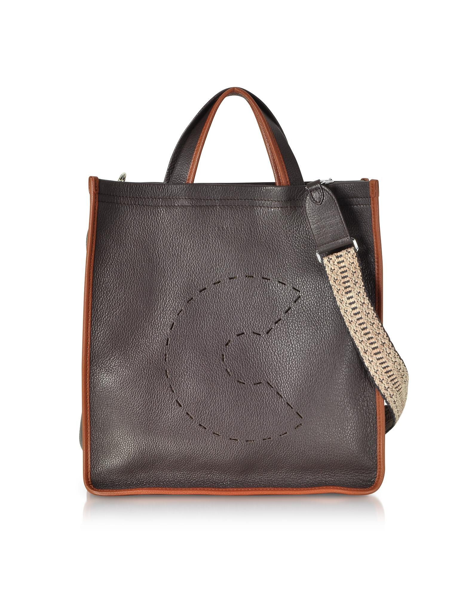 5f381b3d95 Lyst - Coccinelle C Bag Grained Leather Tote in Brown
