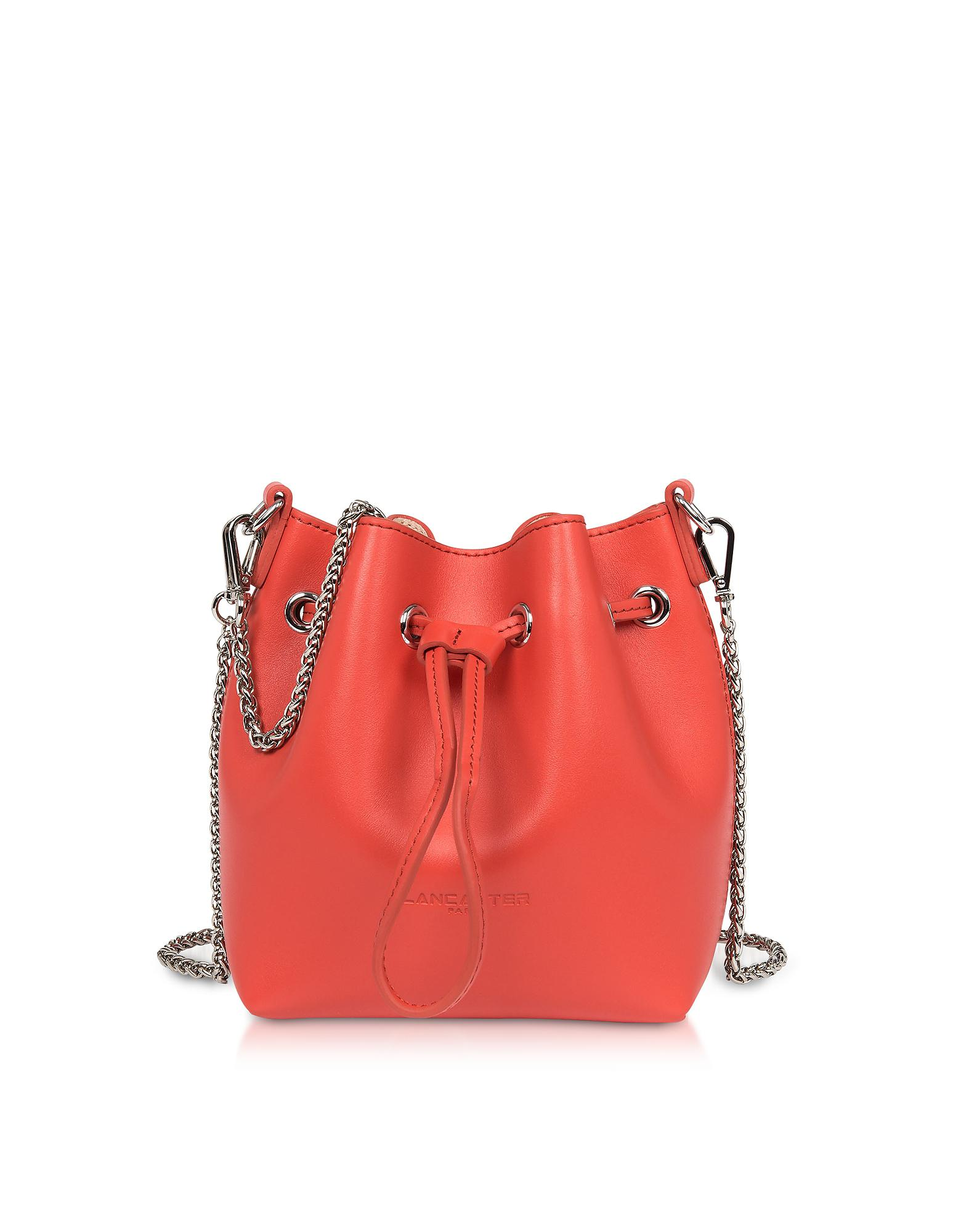 72cffc6b829688 Lyst - Lancaster Paris Treasure And Annae Leather Mini Bucket Bag in Red