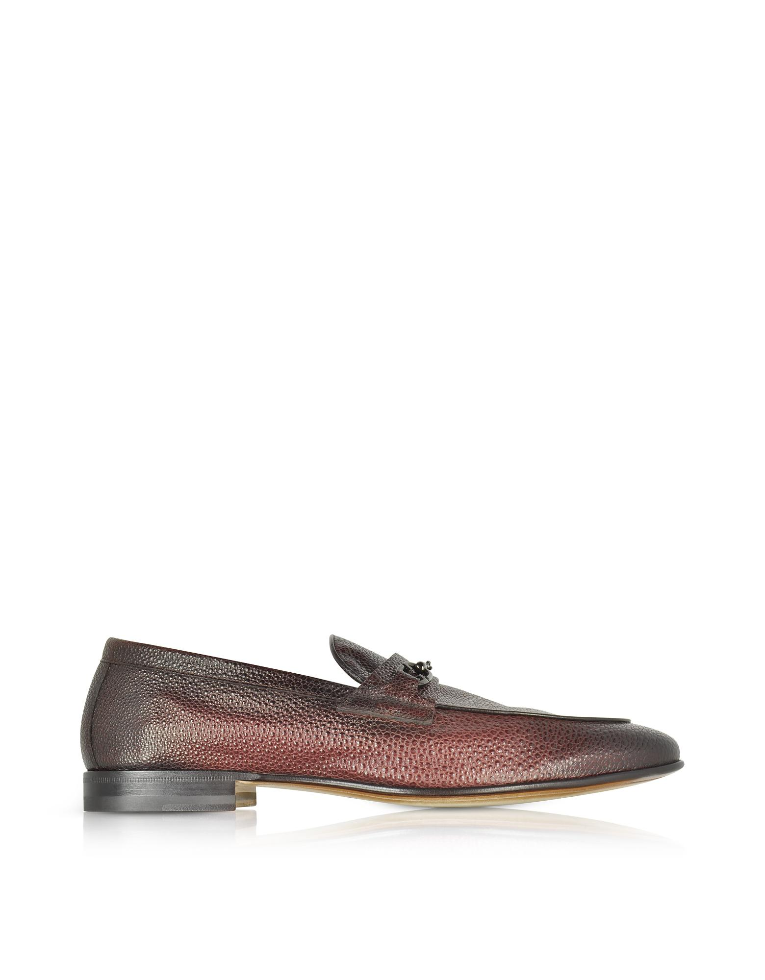 d934eace28b Santoni Brownish Red Stingray Leather Horsebit Loafer in Red for Men ...