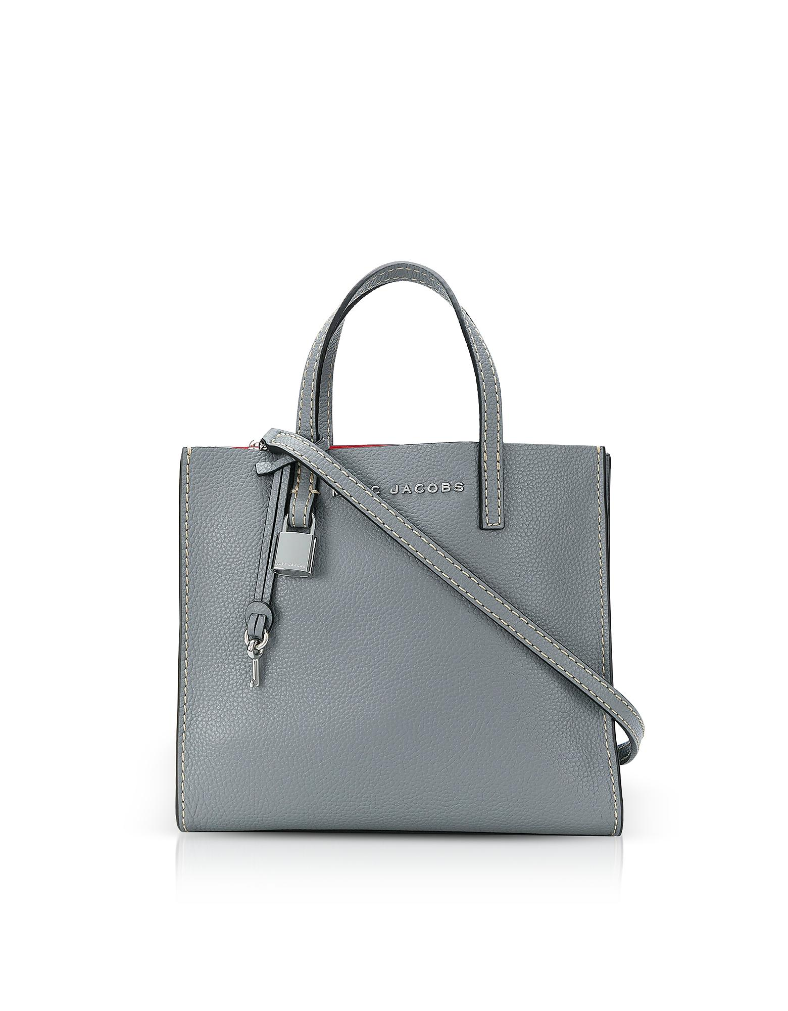 Lyst - Marc Jacobs Mini Grind Leather Tote in Black - Save ... a827e09829cb