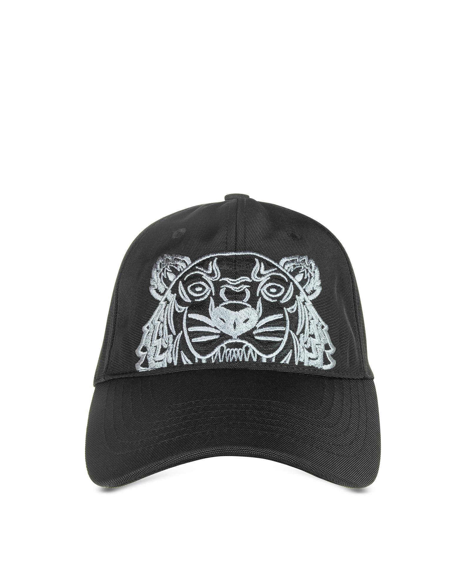 fbe4a92417b Lyst - Kenzo Black Canvas Tiger Baseball Cap in Black for Men