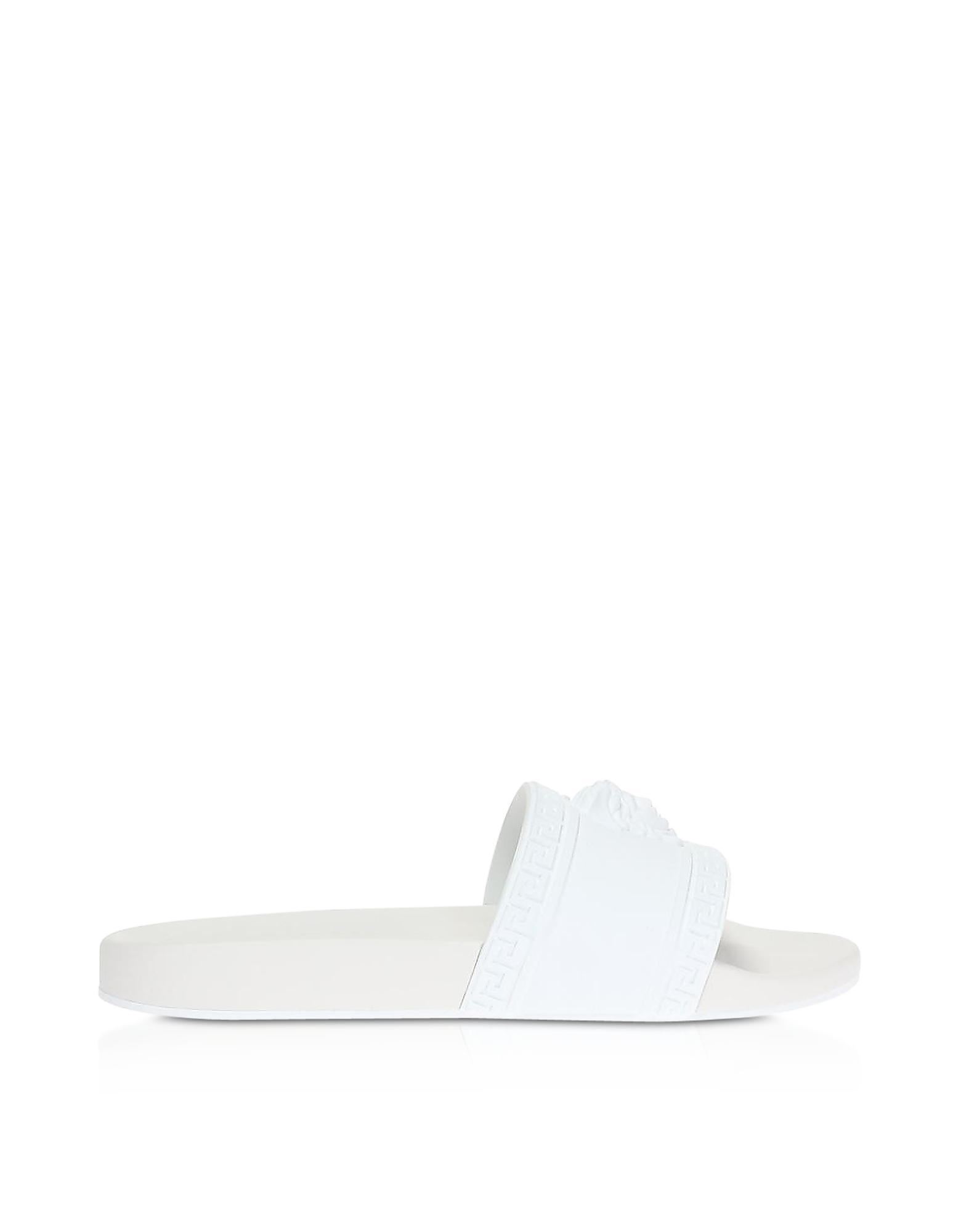 a79feec52 Lyst - Versace Medusa Head Sliders in White for Men