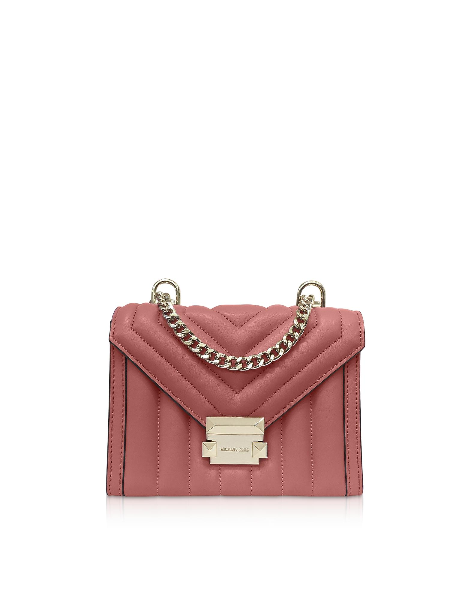 eff1c906feb4 Michael Kors. Women s Pink Whitney Small Rose Quilted Leather Convertible  Shoulder Bag