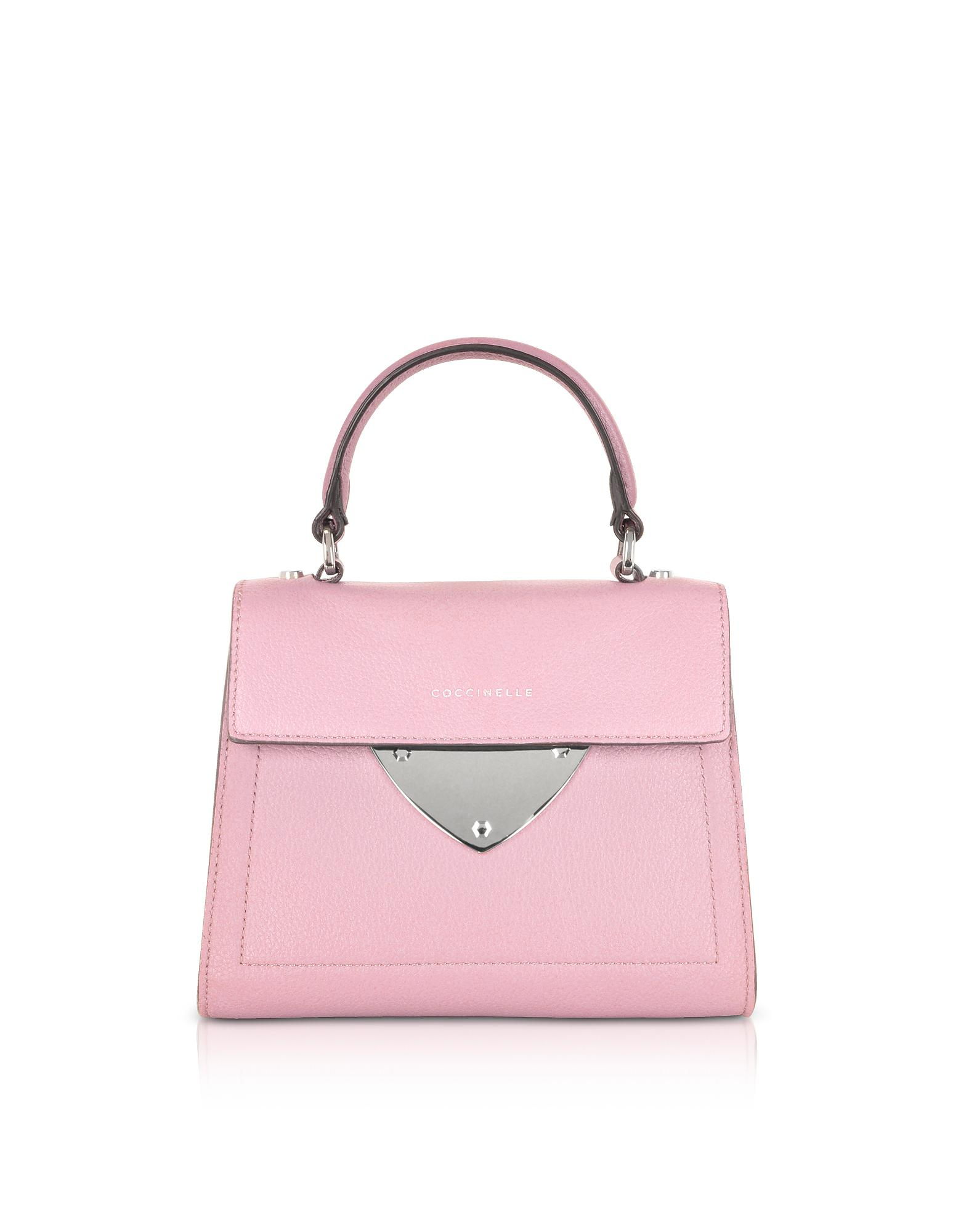 bf1cf463035 Lyst - Coccinelle B14 Mini Leather Satchel Bag in Pink