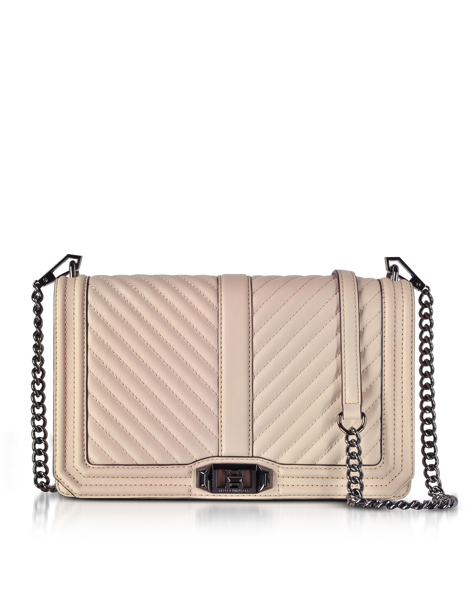 3fe7903252 Lyst - Rebecca Minkoff Nude Chevron Quilted Leather Slim Love ...