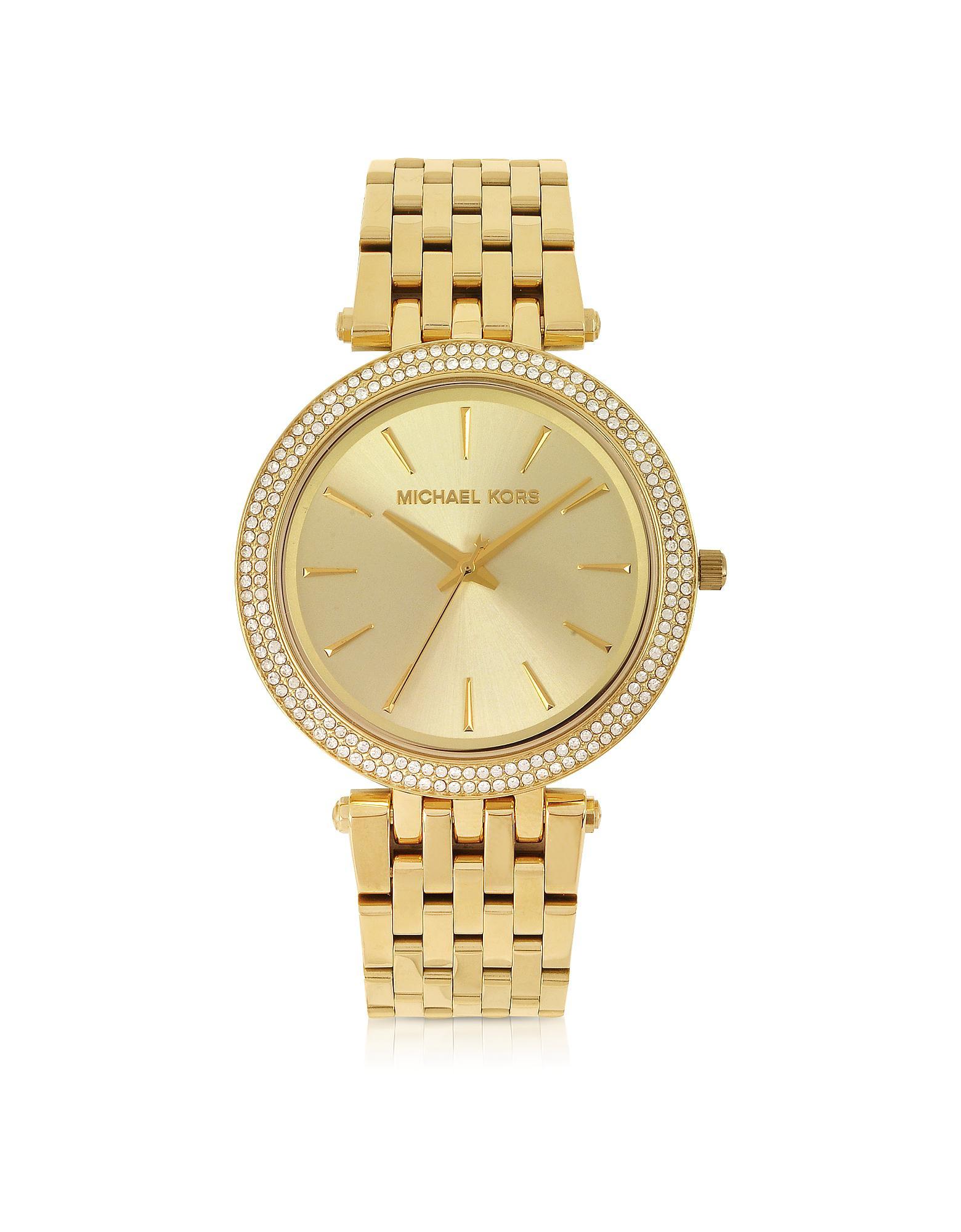 e41dae0d8632 Michael Kors - Metallic Mid-size Golden Stainless Steel Darci Women s Watch  - Lyst. View fullscreen