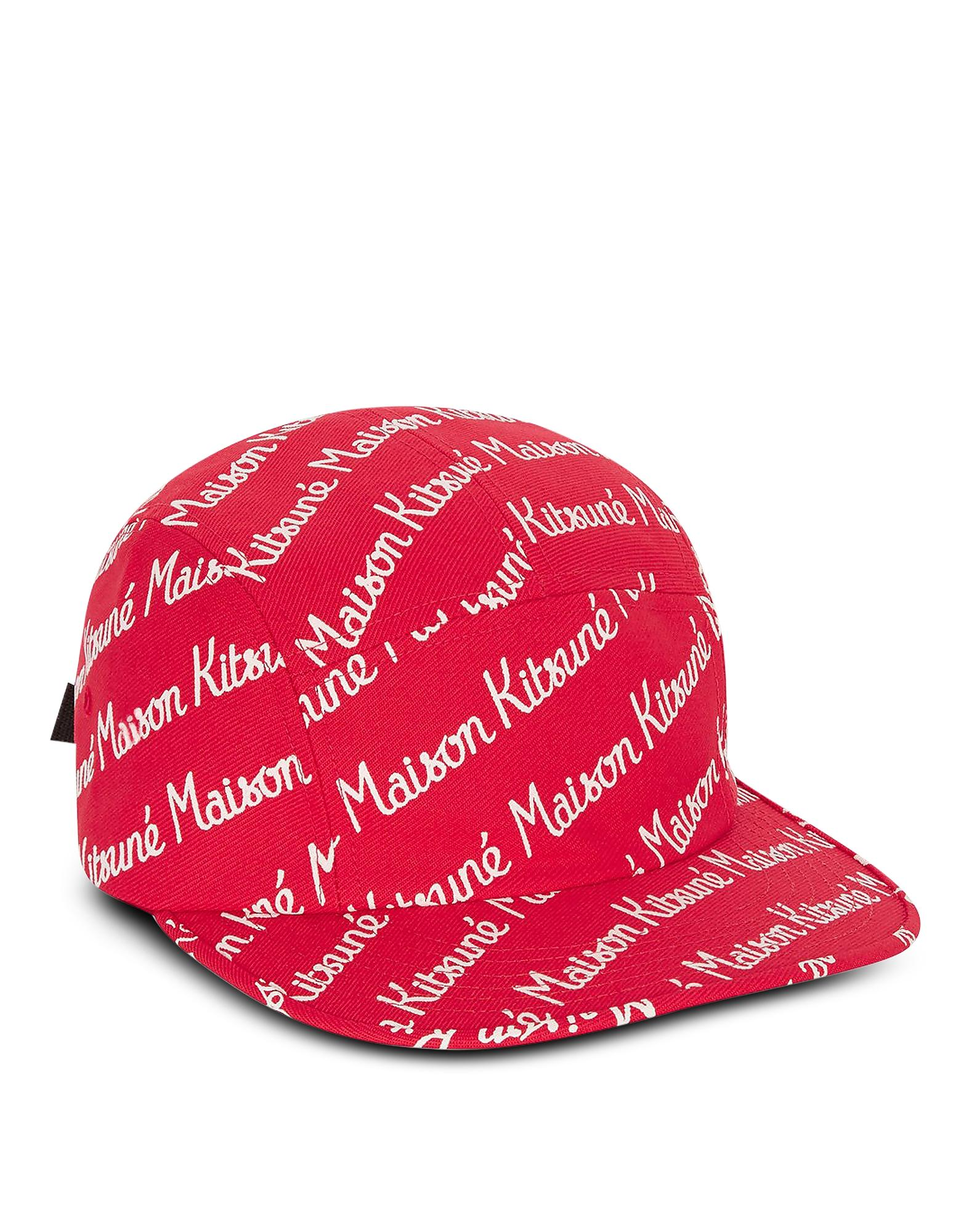 ef73a5ff36f993 ... Maison Kitsune 5p Red Cotton Canvas Baseball Cap for Men - Lyst. View  fullscreen