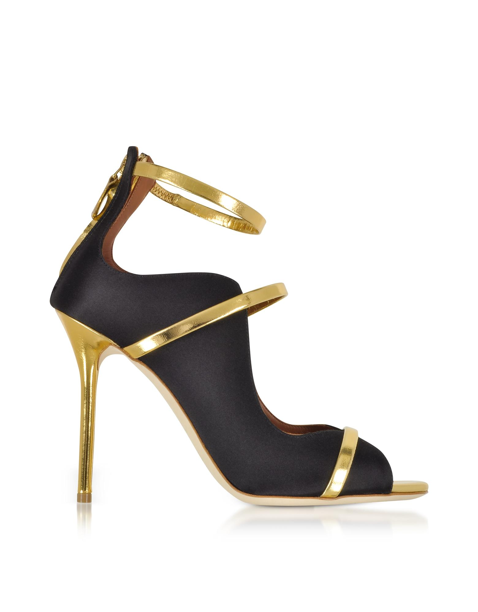 0f290a17579 Lyst - Malone Souliers Mika Satin Sandals in Black - Save 49%
