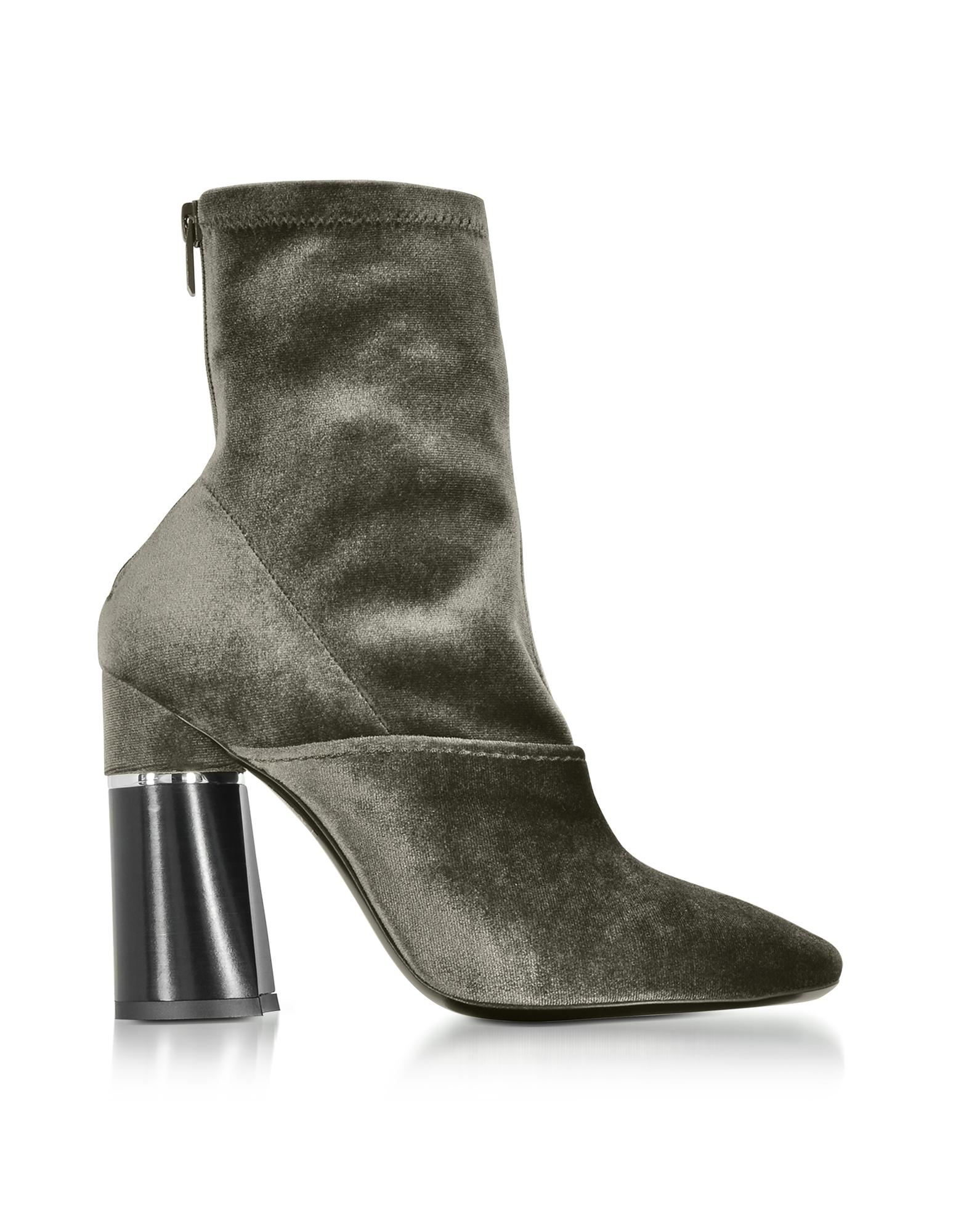 3.1 Phillip Lim Designer Shoes, Kyoto Blush Velvet Stretch High Heel Ankle Boots