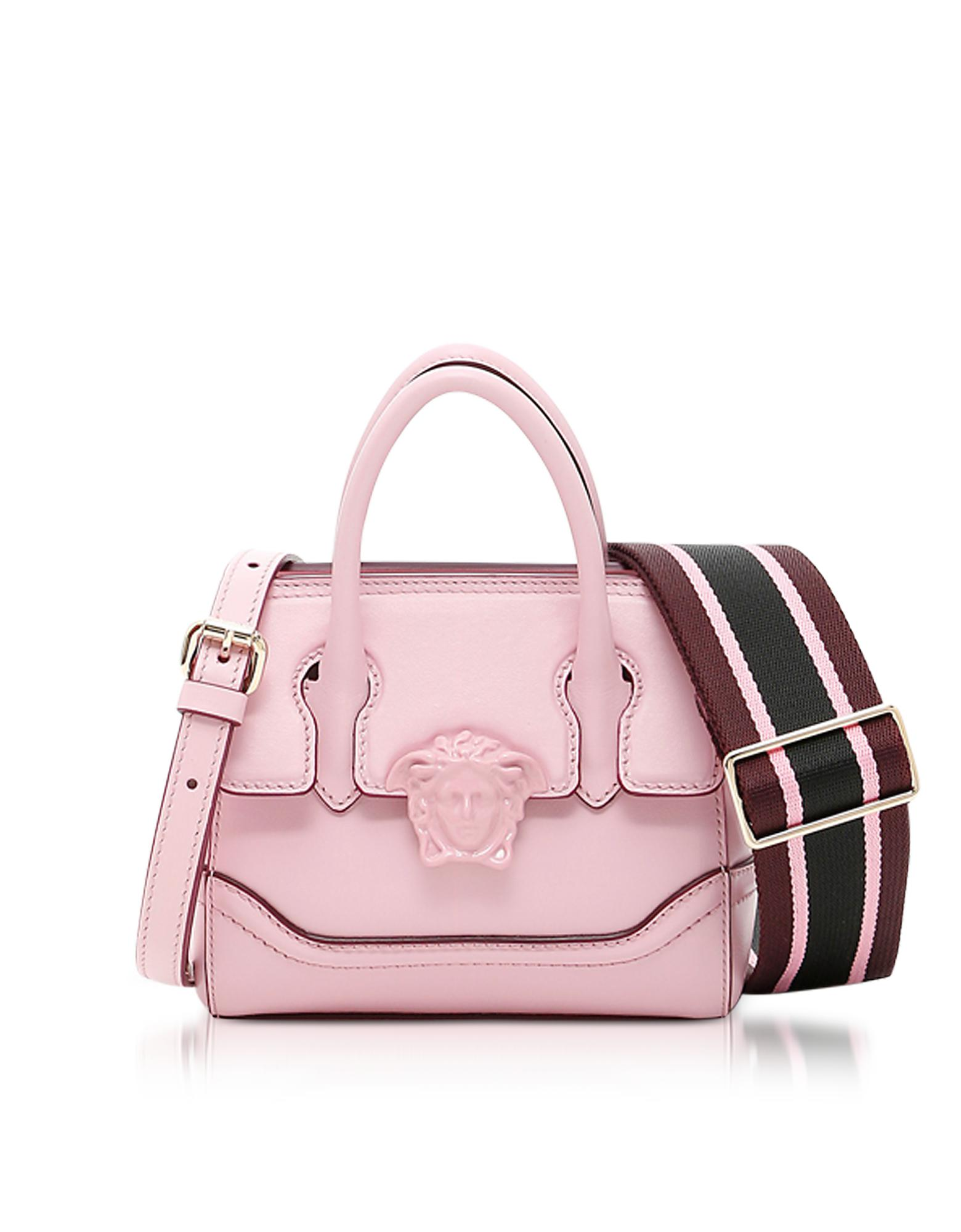 98cbbd1ff615 Lyst - Versace Palazzo Empire Pink Leather Mini Handbag in Pink