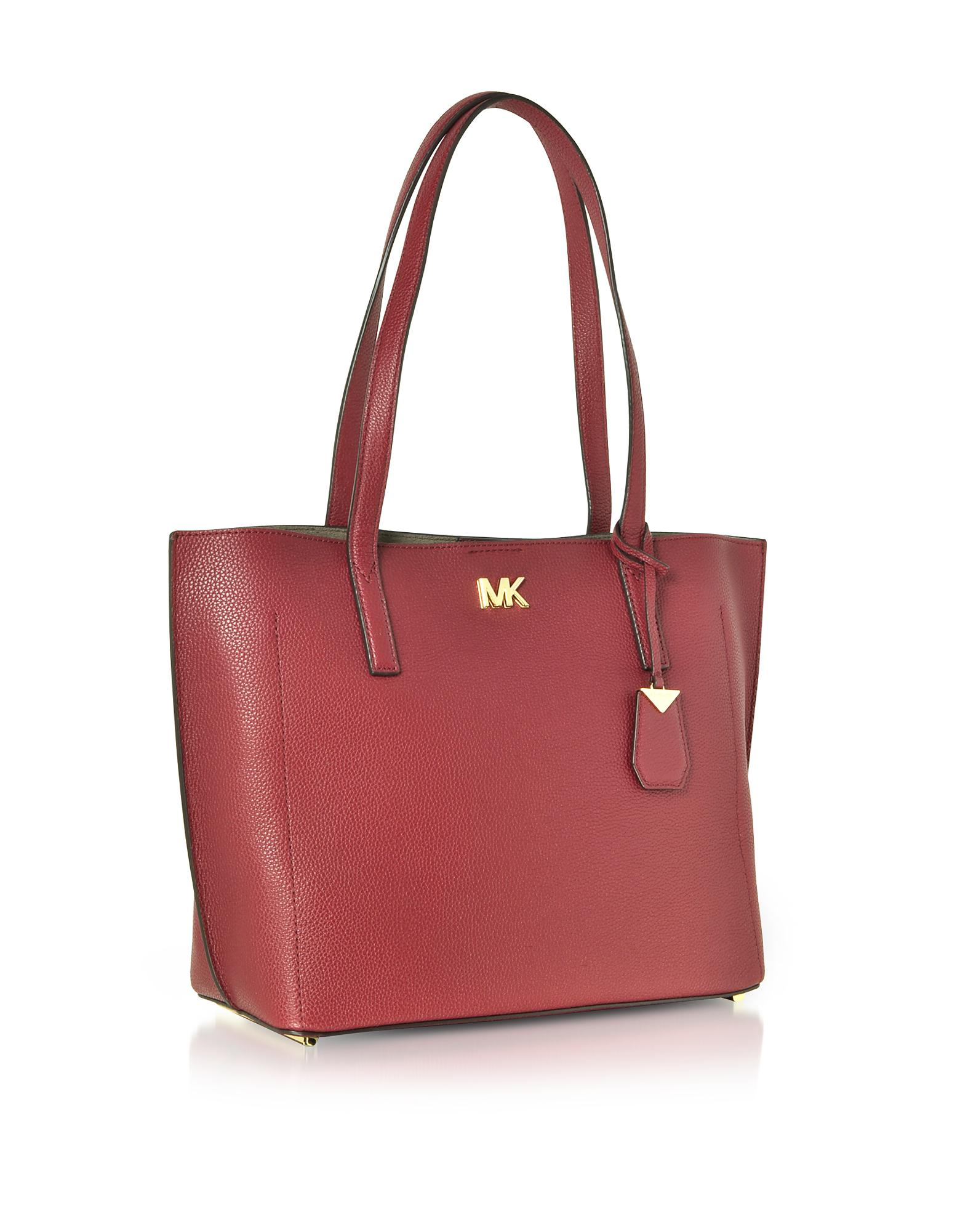 0b4f8178574d9e Michael Kors Pebbled Leather Ana Medium Ew Bonded Tote Bag in Red - Lyst
