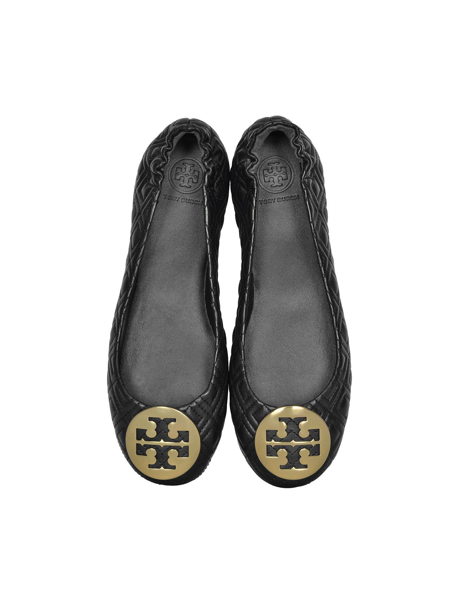 f9d30e09cdaf8 Tory Burch. Women s Perfect Black Quilted Nappa Leather Minnie Ballerinas