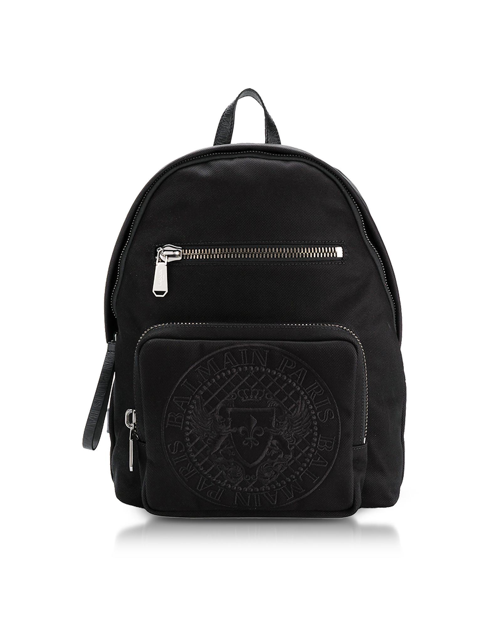 Balmain Backpacks, Nylon Men's Club Backpack w/Embossed Blazon