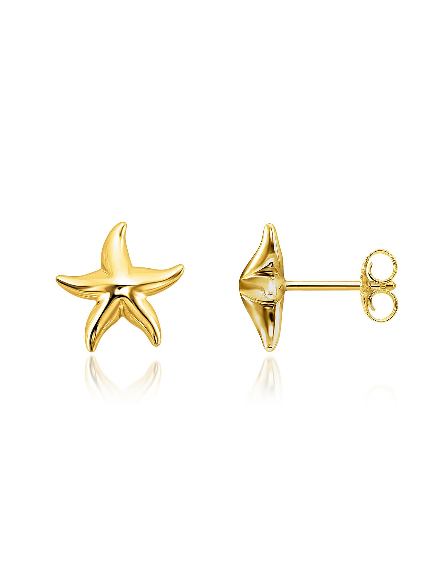 Thomas Sabo Women S Metallic Gold Plated Sterling Silver Starfish Earrings