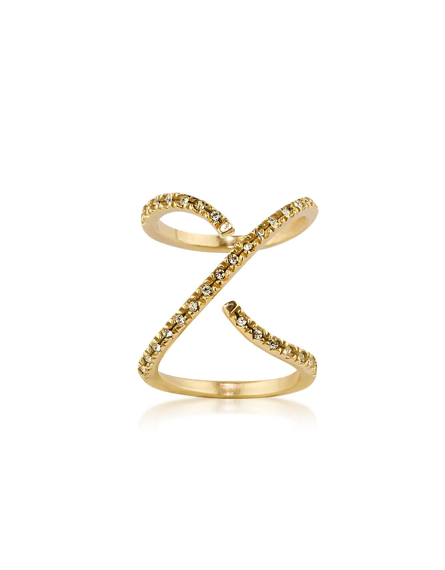 Federica Tosi Cross ring - Metallic YMA3GfkU