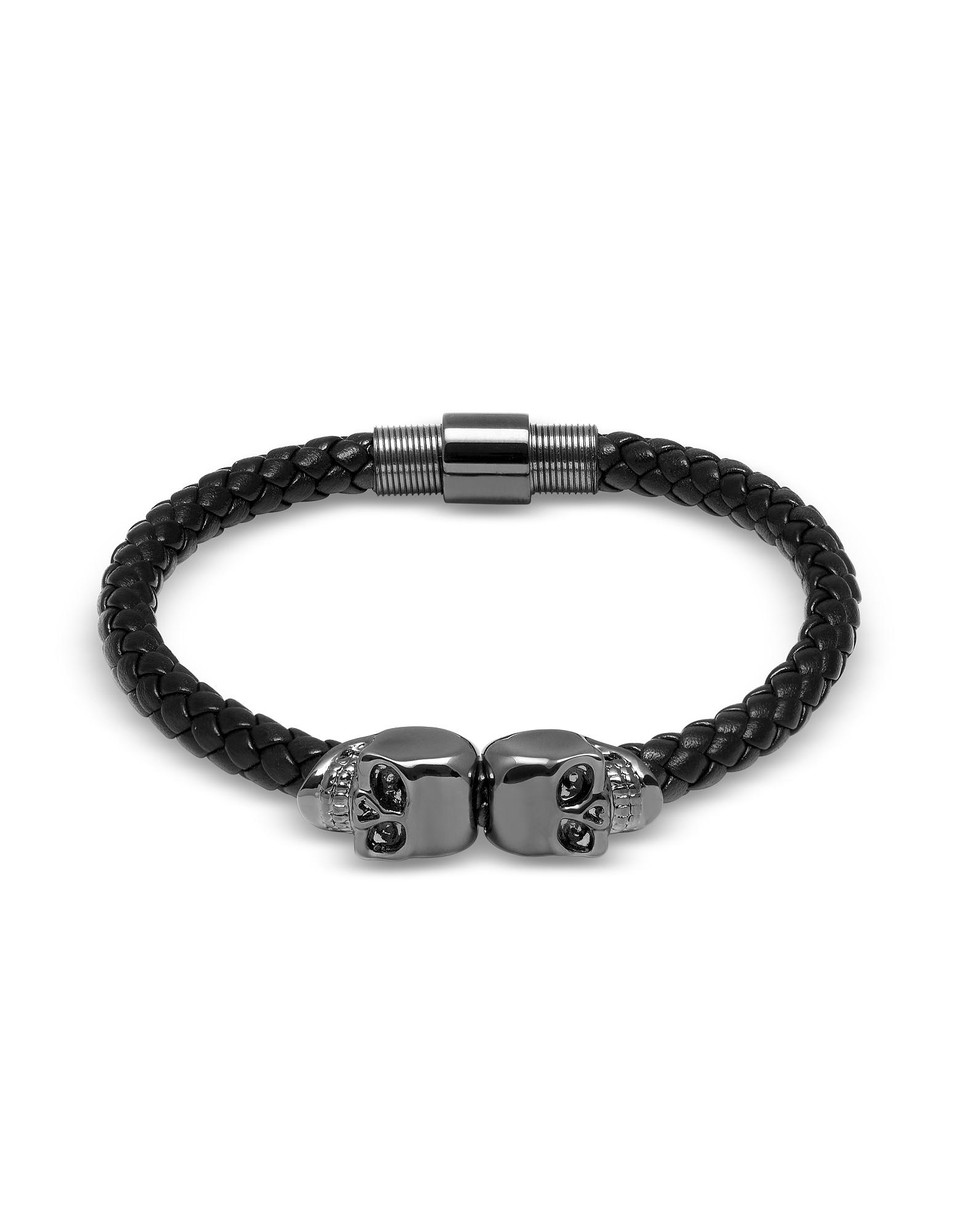black twin bracelet north leather love this do nappa think pin i skull gunmetal northskull you about what look