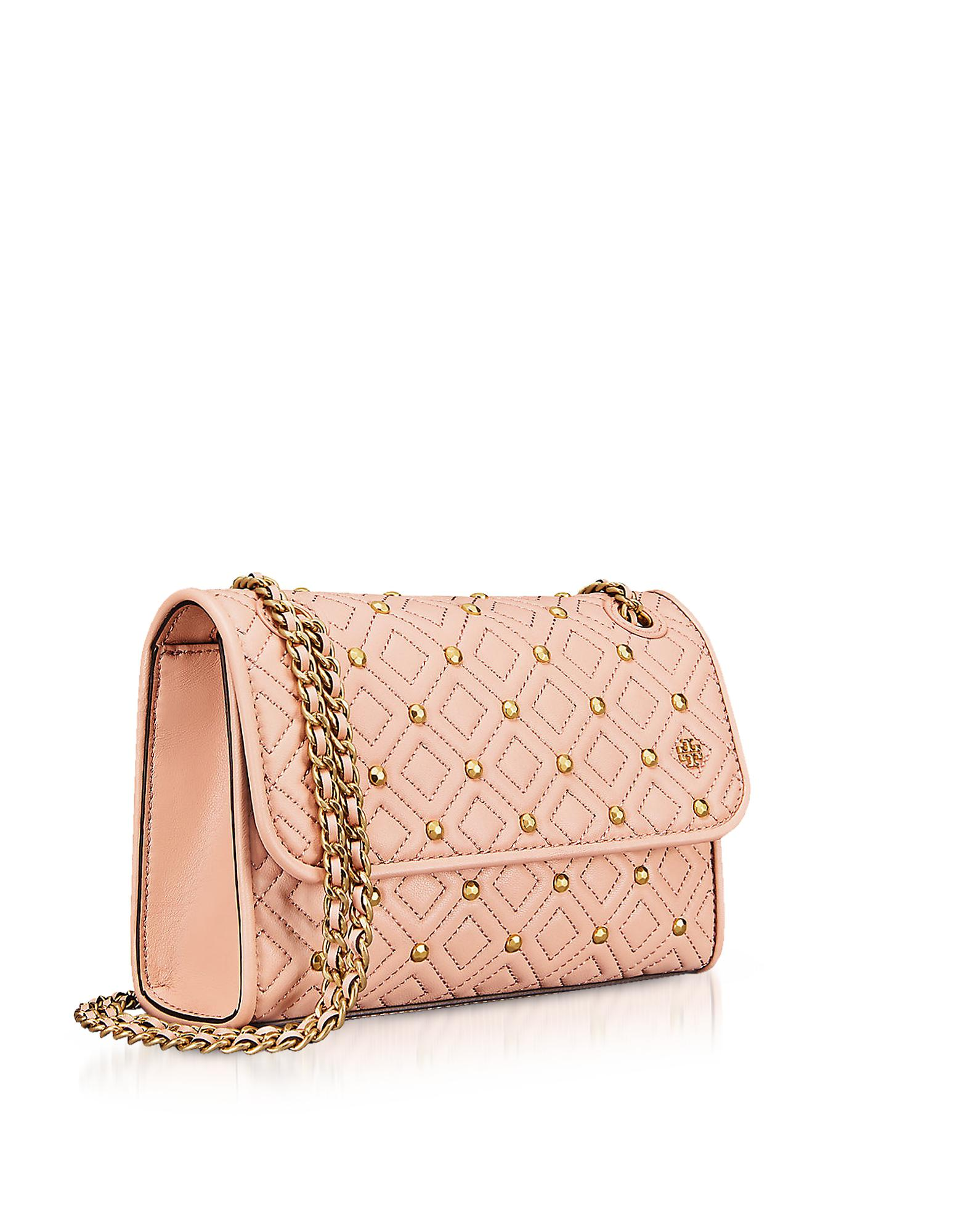 43ef6c93a6b9 Tory Burch Fleming Stud Quilted Leather Small Convertible Shoulder ...