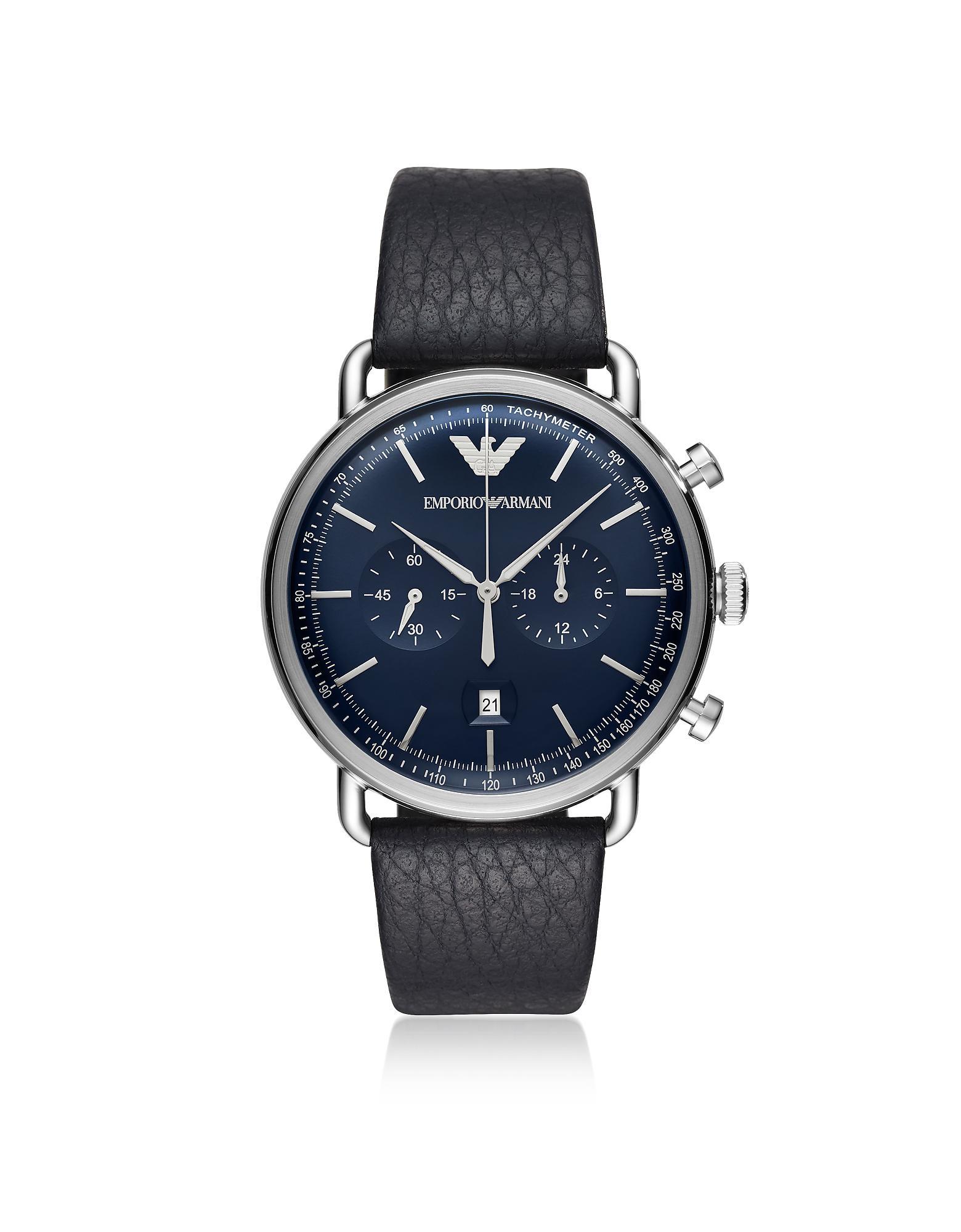 29ac466eeae Lyst - Emporio Armani Men s Dress Watch in Metallic for Men
