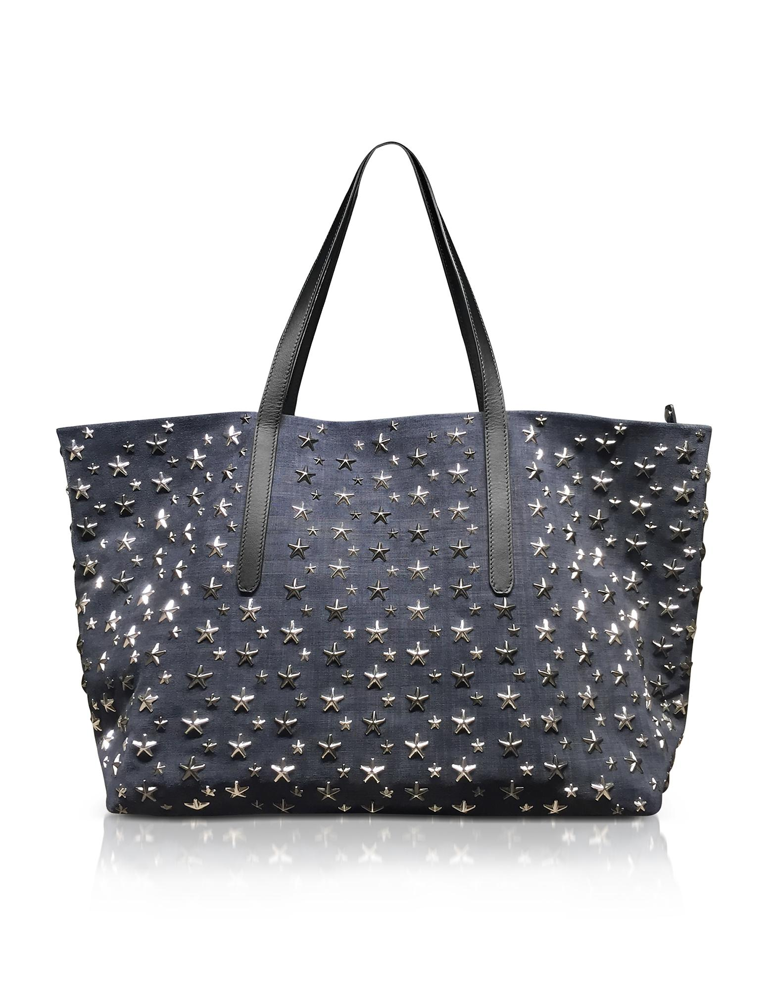 Denim For Navy Tote In Lyst Suede Large Choo Men Jimmy Blue t8RxwT45q