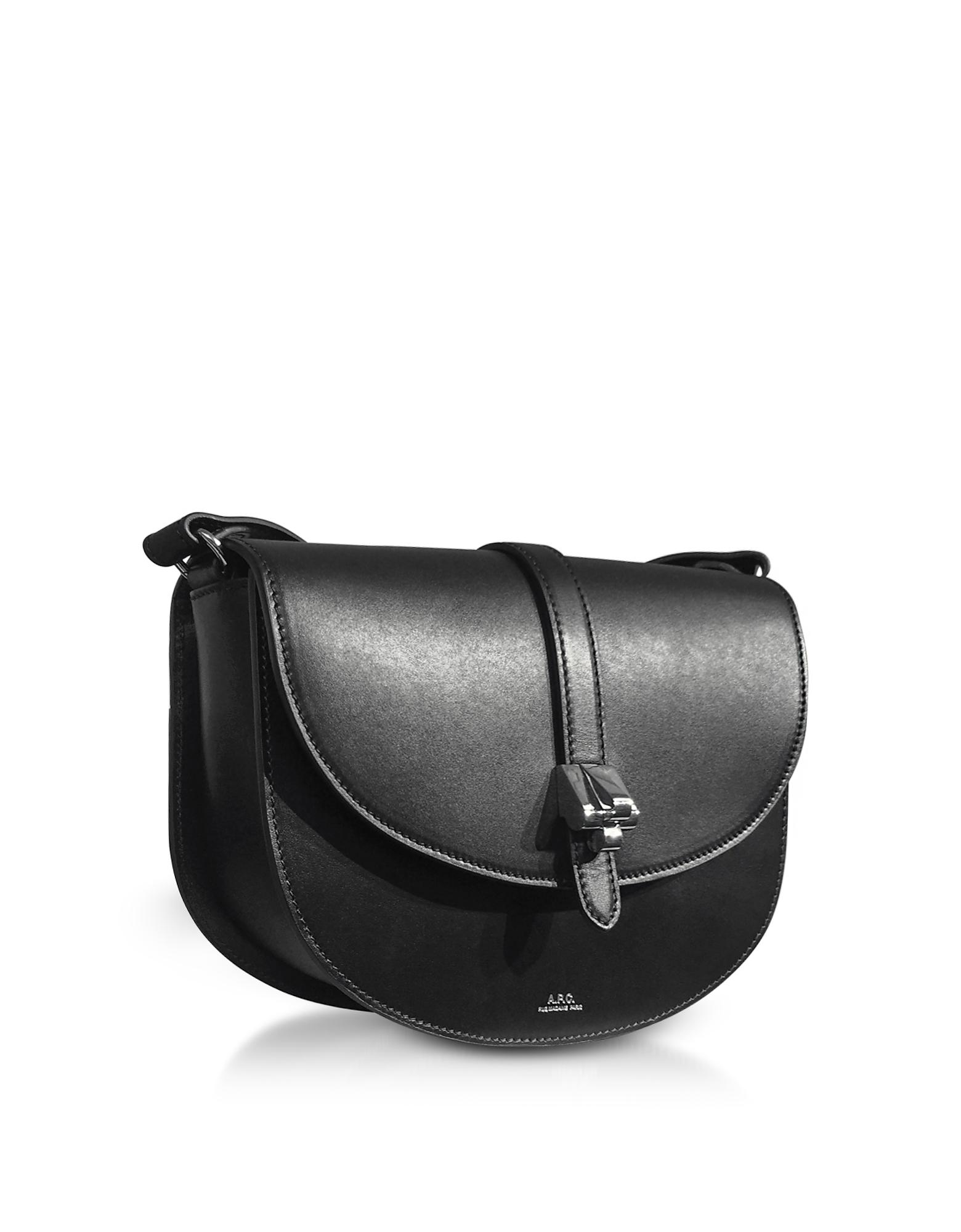 Isilde Bag in Black Smooth Shiny Leather A.P.C. SndkP