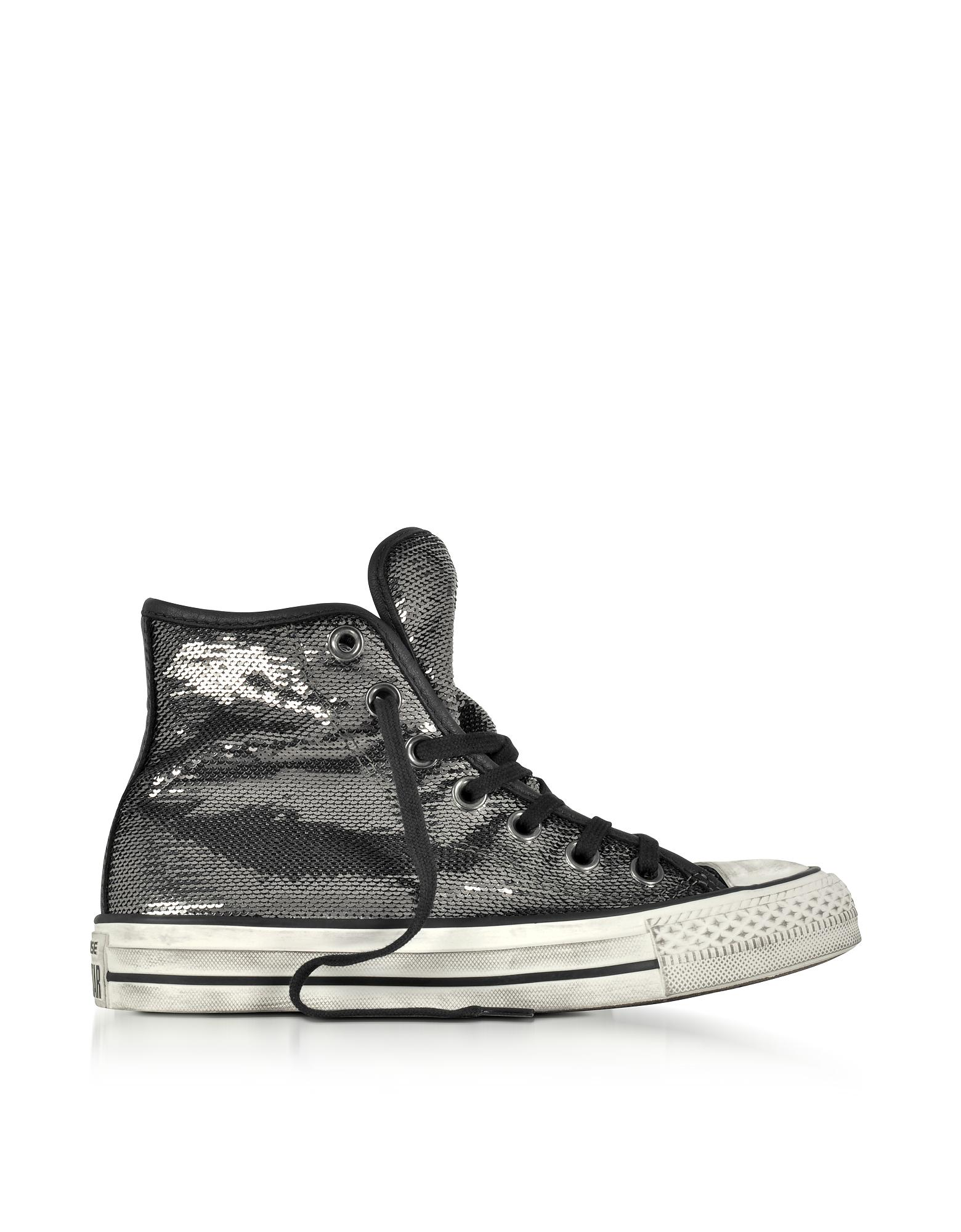 146e8bd45052 Converse Chuck Taylor All Star High Distressed Ox Thunder   Black ...