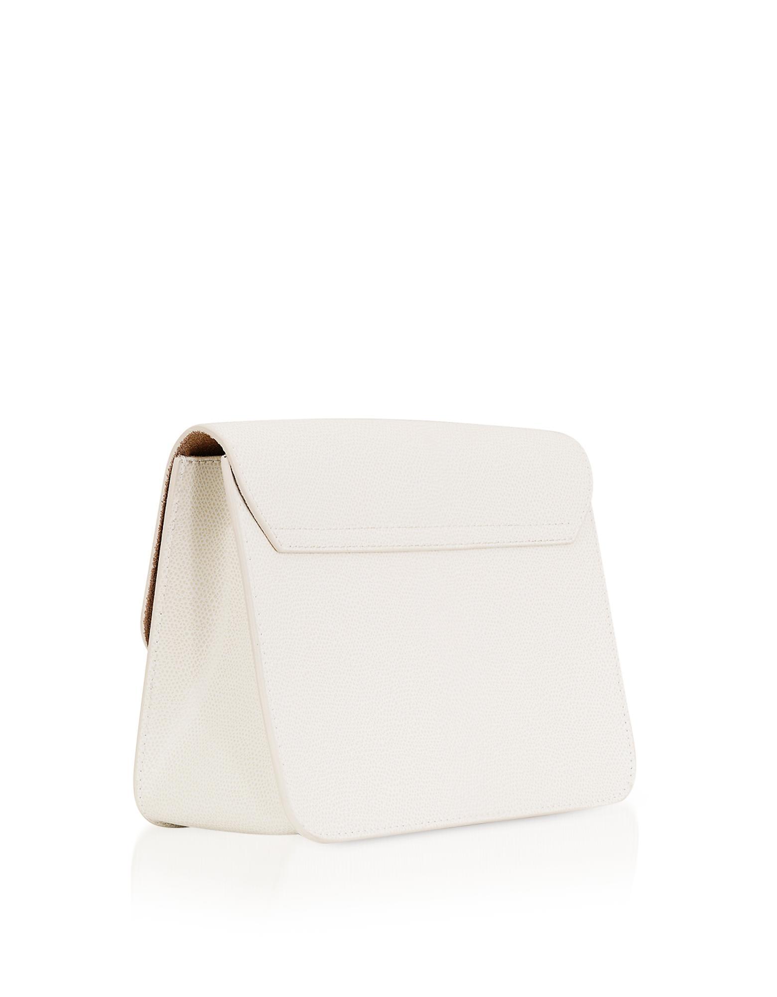 2b200c3910 Lyst - Furla Petalo Leather Metropolis Small Crossbody in White