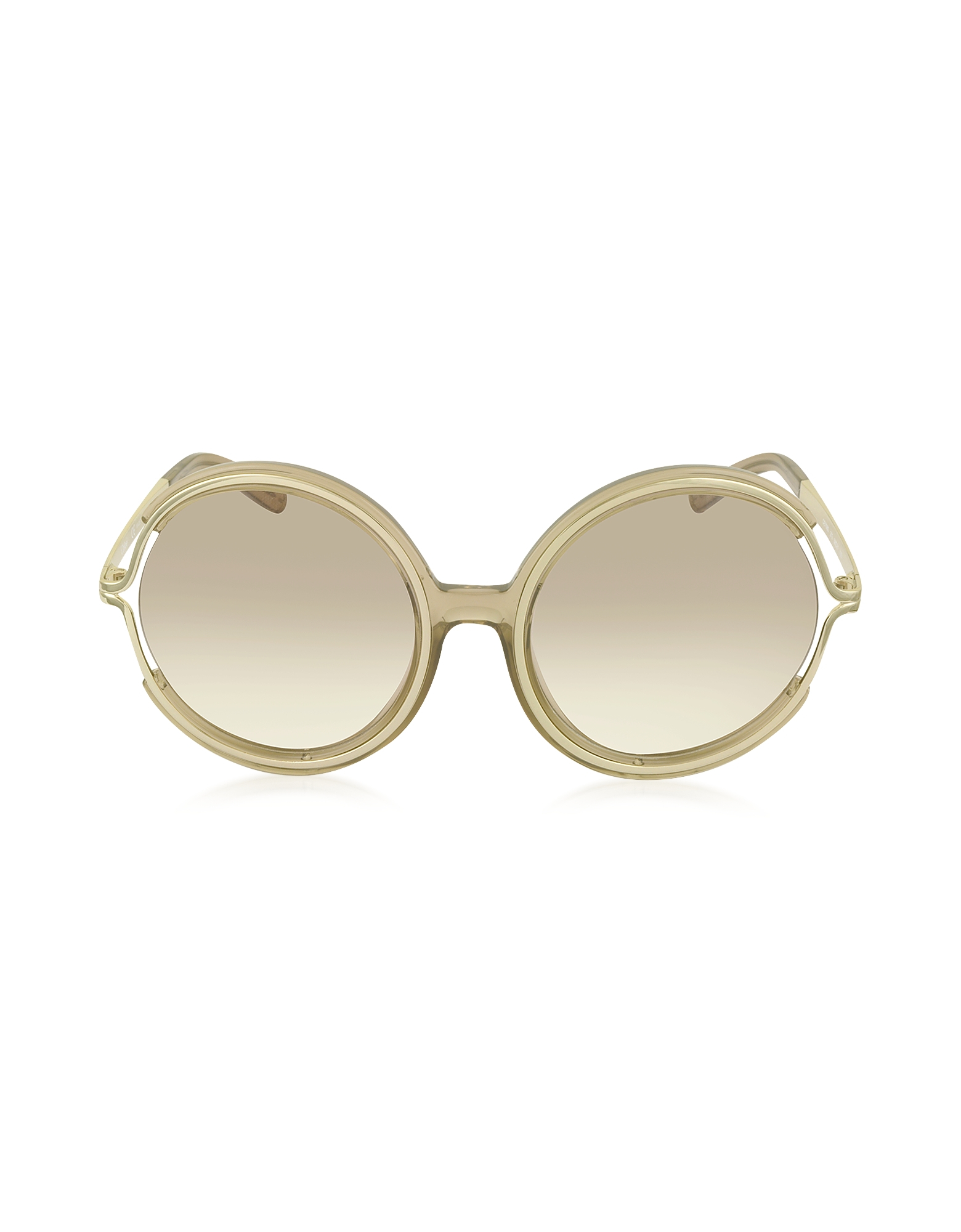 cbed426b842 Lyst - Chloé Jayme Ce 708s 272 Light Brown Acetate And Gold Metal ...